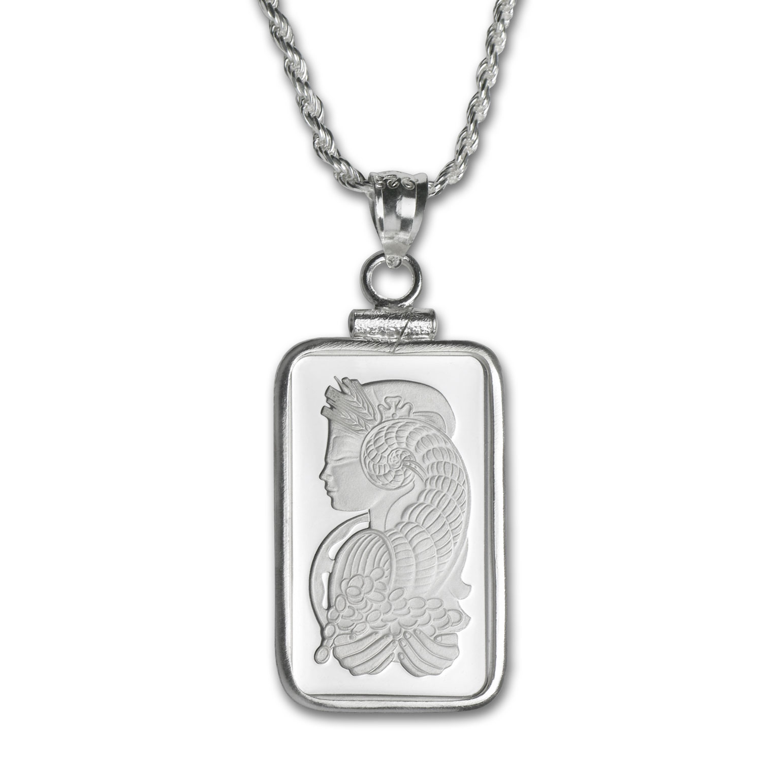 5 gram Silver - PAMP Suisse Fortuna Pendant (w/Chain)