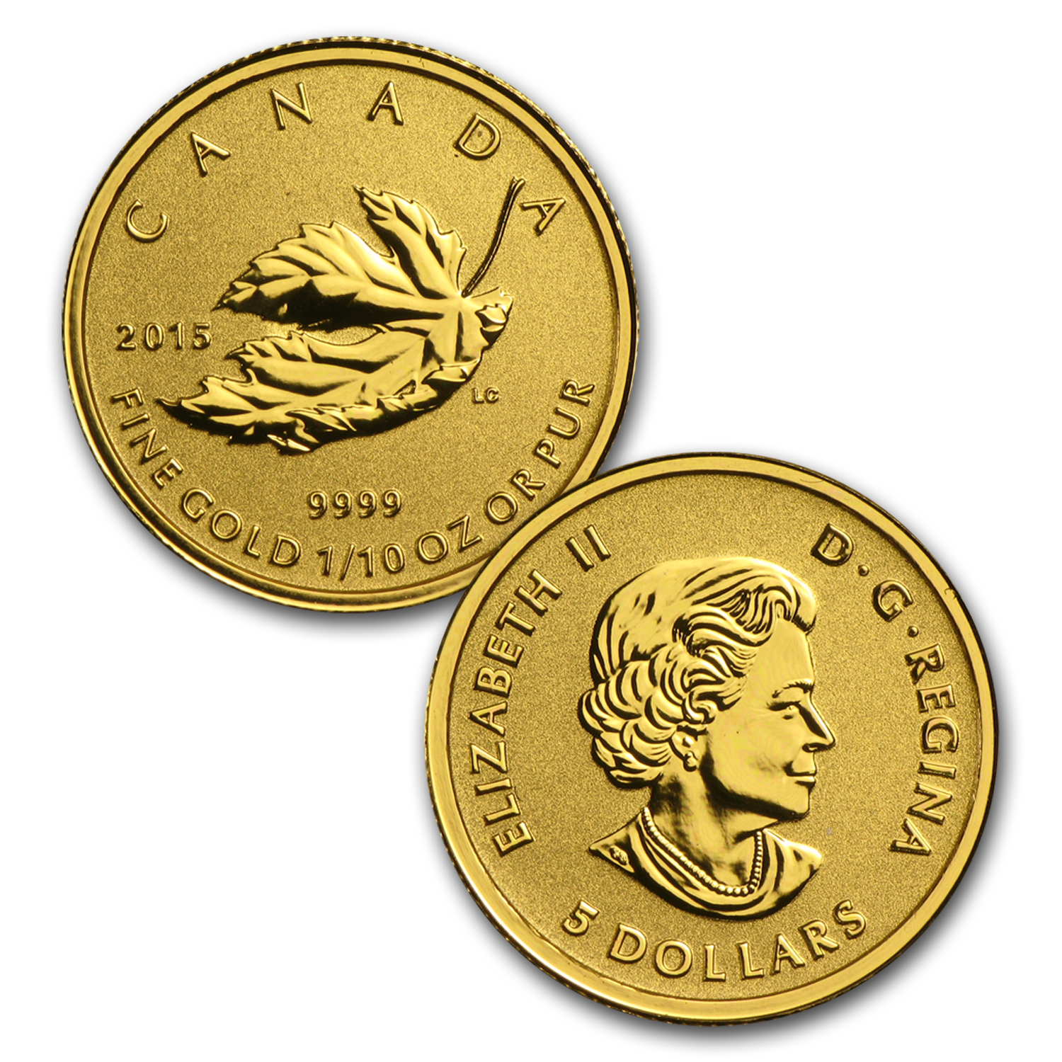 2015 Canada 4-Coin Gold Fractional Maple Leaf Set (1.4 oz)