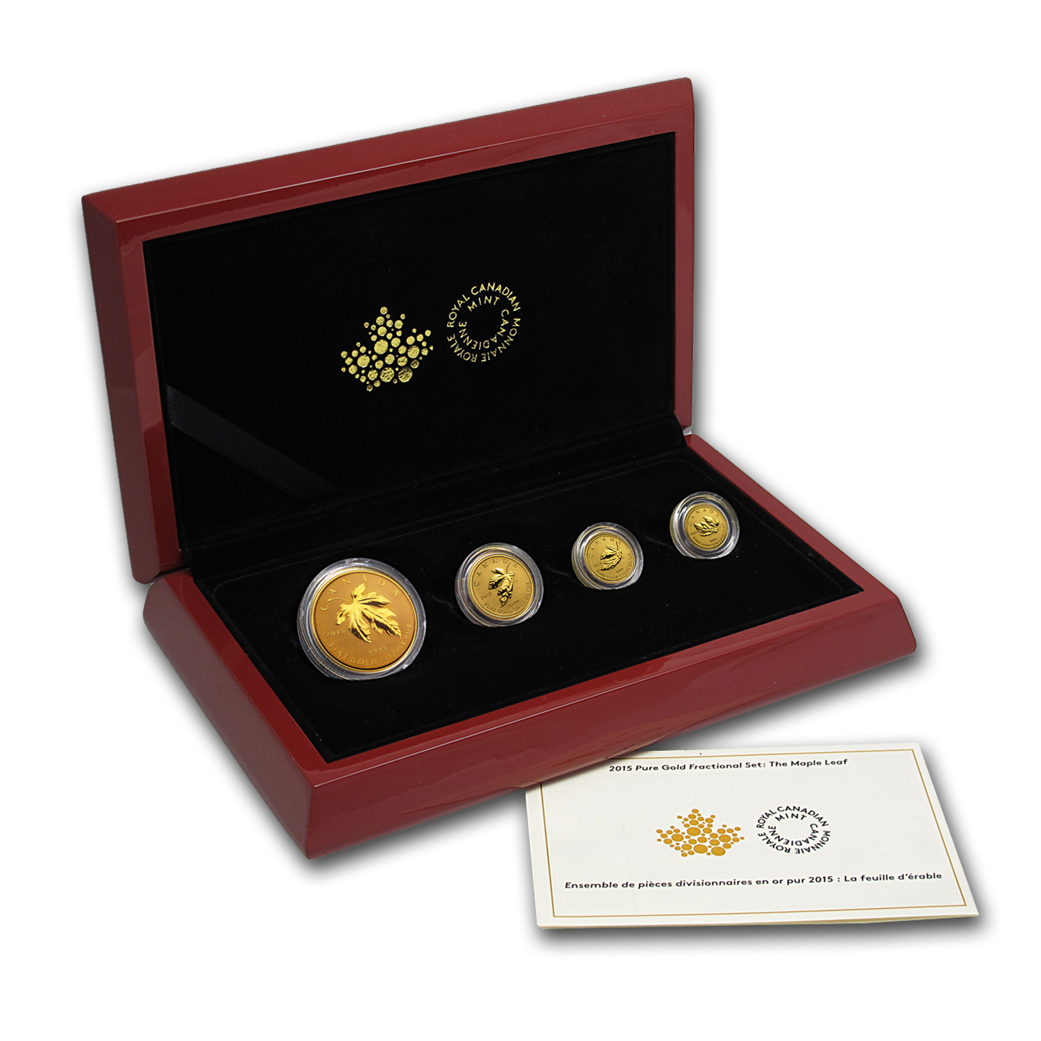 2015 4-Coin Canada Gold  Fractional Maple Leaf Set (1.4 oz)
