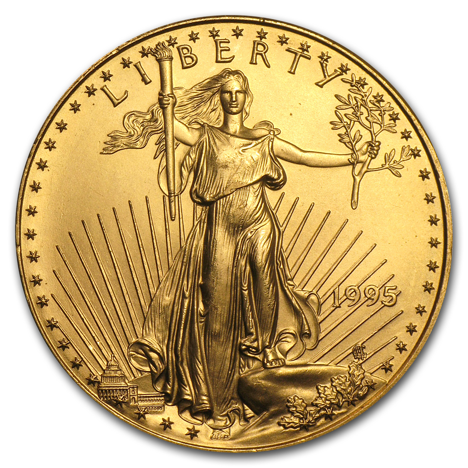 1995 1 oz Gold American Eagle BU