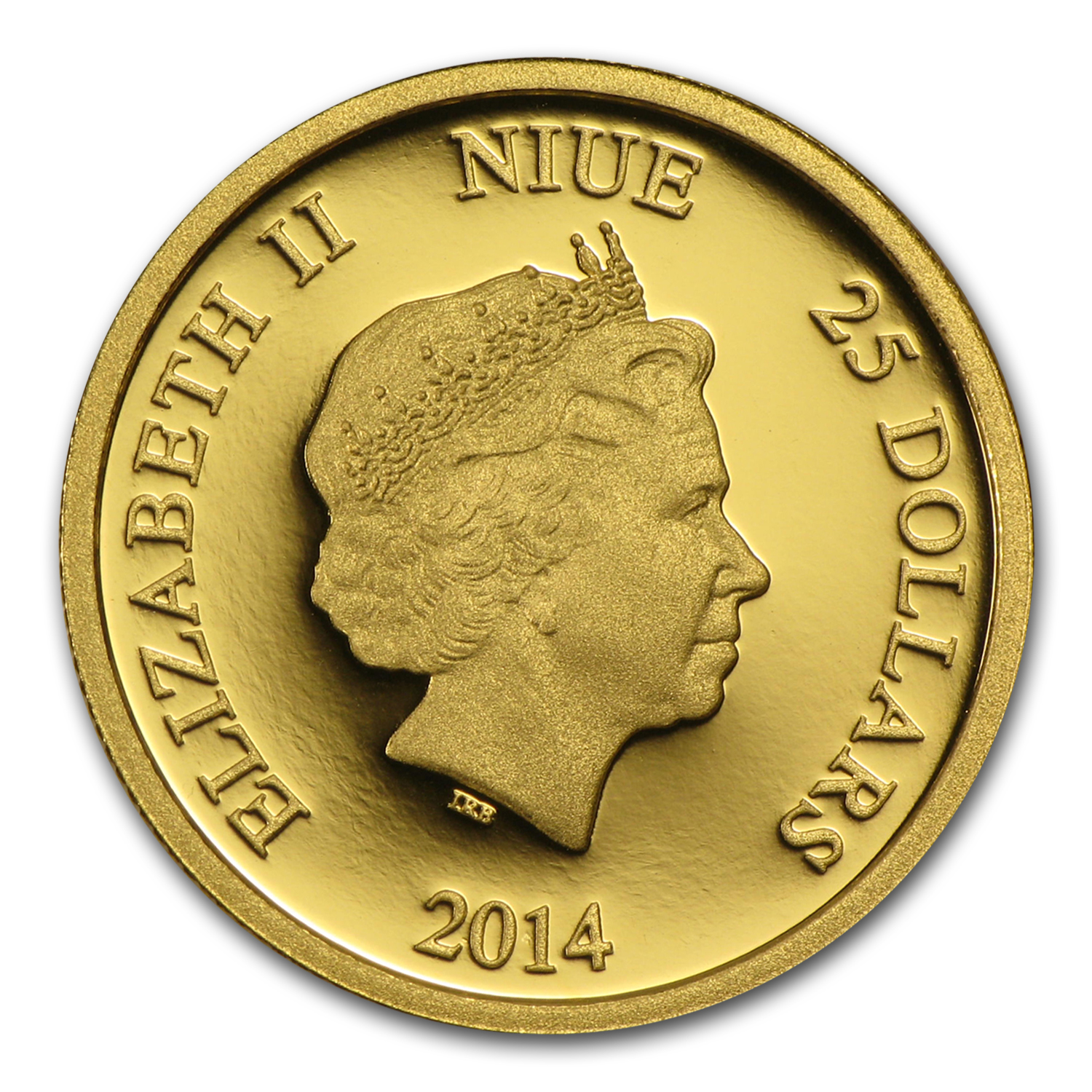 2014 Niue 1/4 oz Proof Gold $25 Disney Mickey Mouse