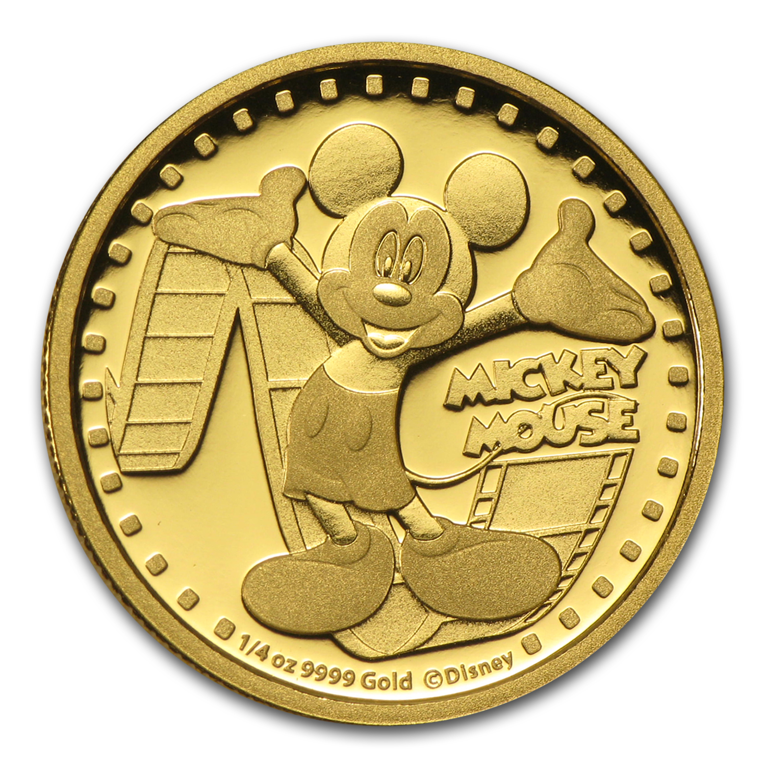 2014 1/4 oz Gold $25 Niue Disney Mickey Mouse