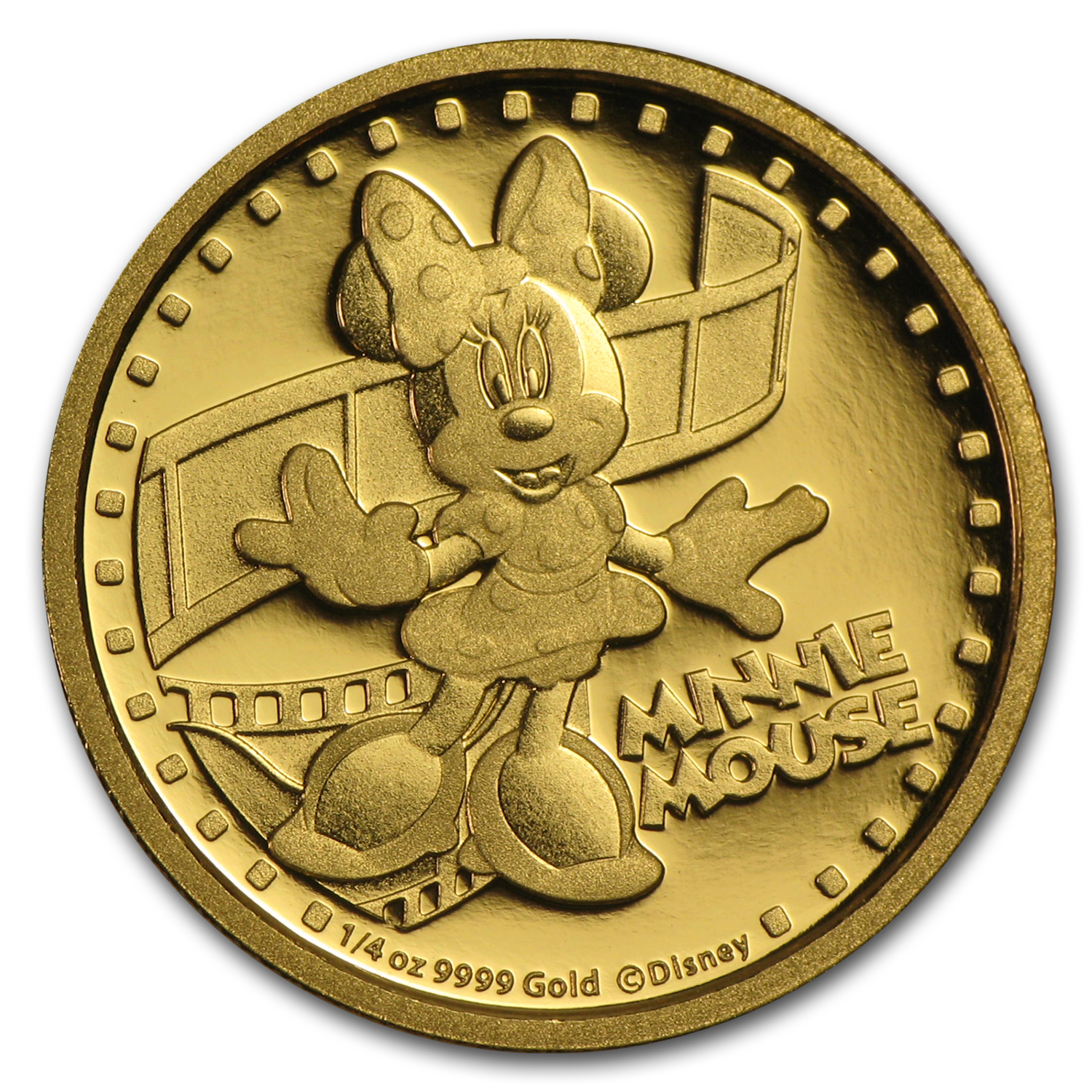 2014 Niue 1/4 oz Proof Gold $25 Disney Minnie Mouse