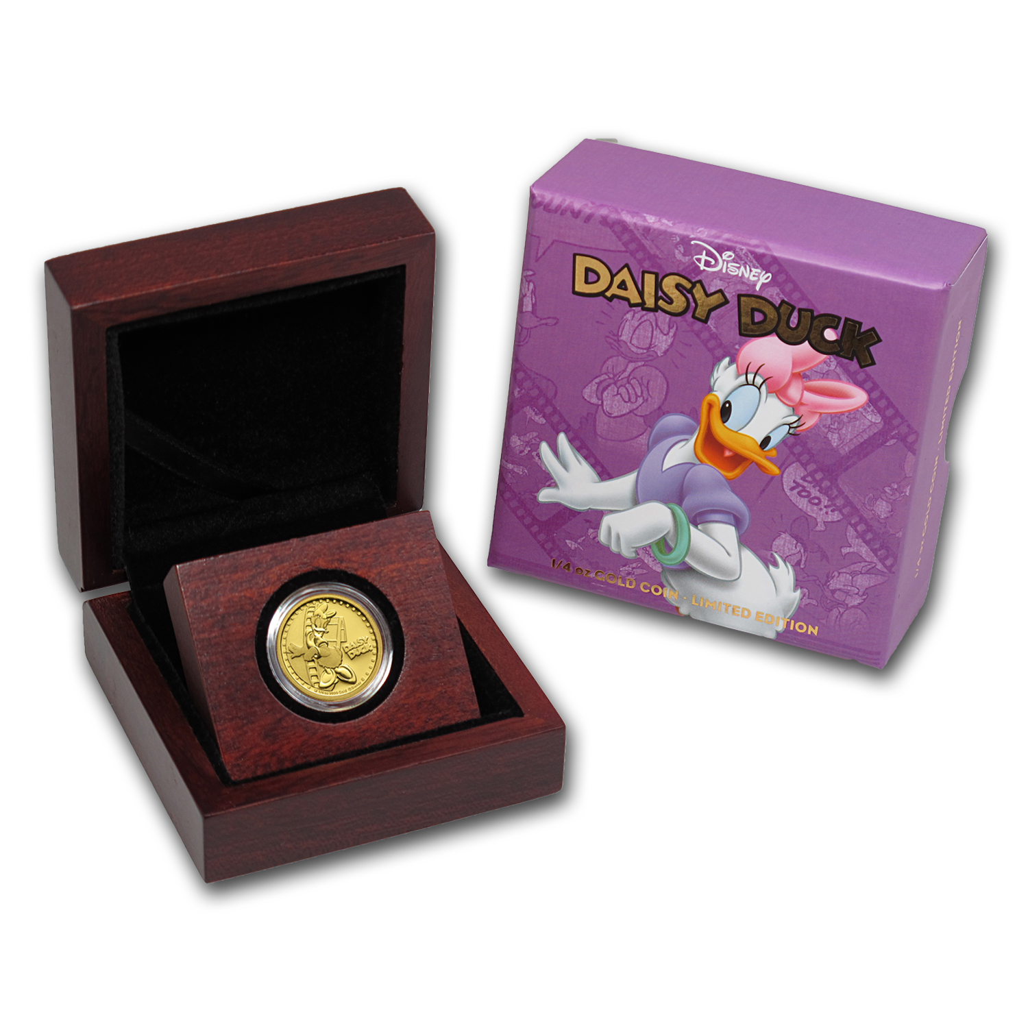 2014 Niue 1/4 oz Proof Gold $25 Disney Daisy Duck