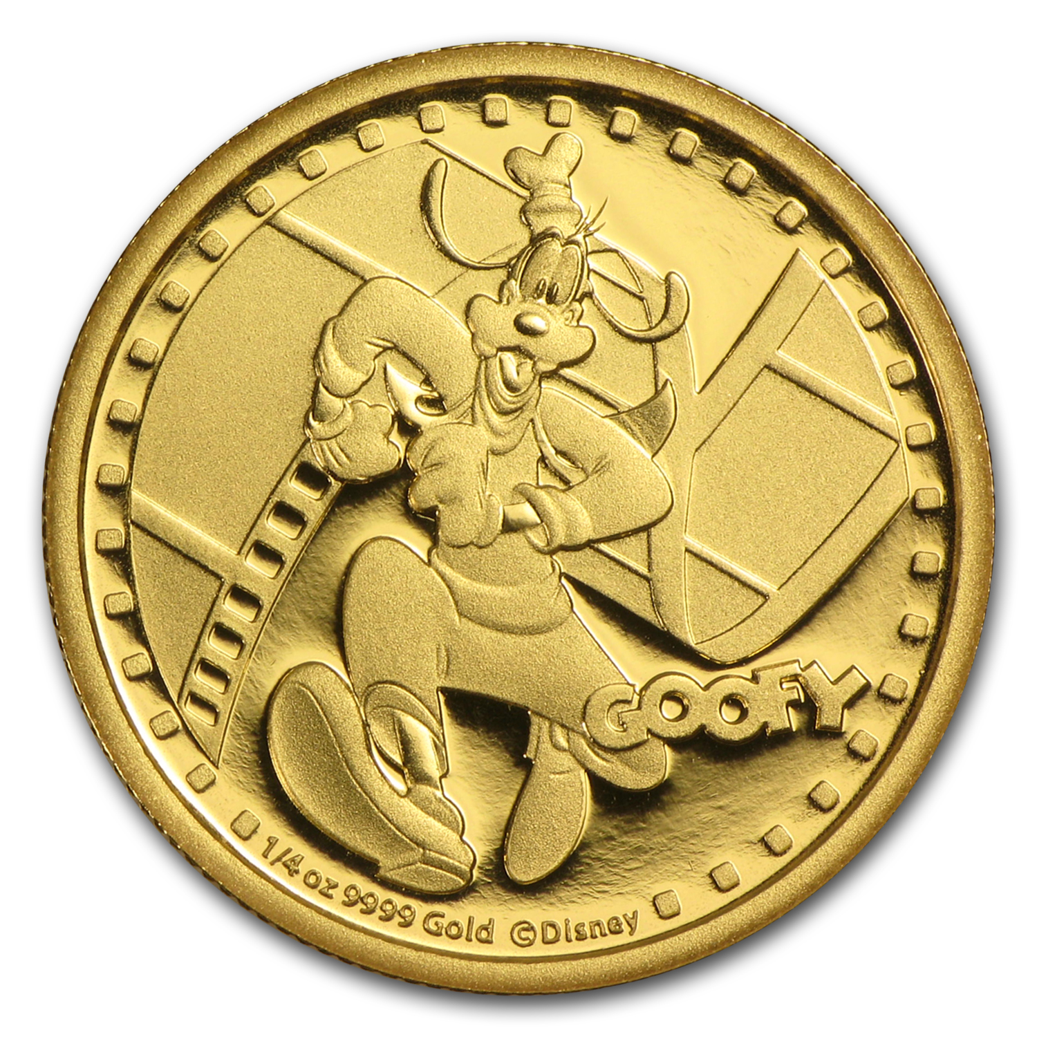 2014 1/4 oz Gold $25 Niue Disney Goofy