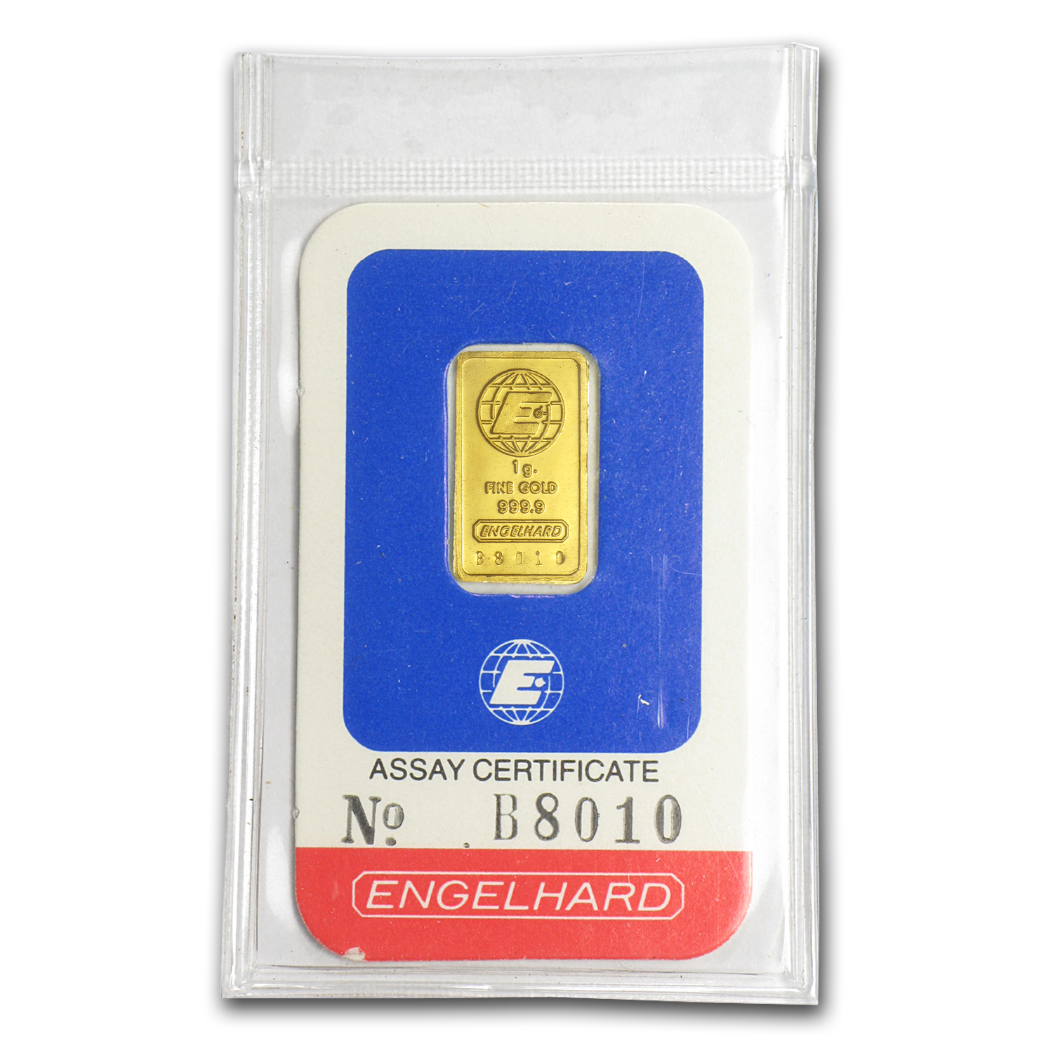 1 gram Gold Bar - Engelhard (In Assay)