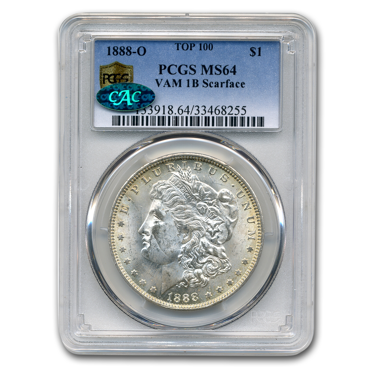 1888-O MS-64 PCGS (VAM-1B Scarface Top-100, CAC)