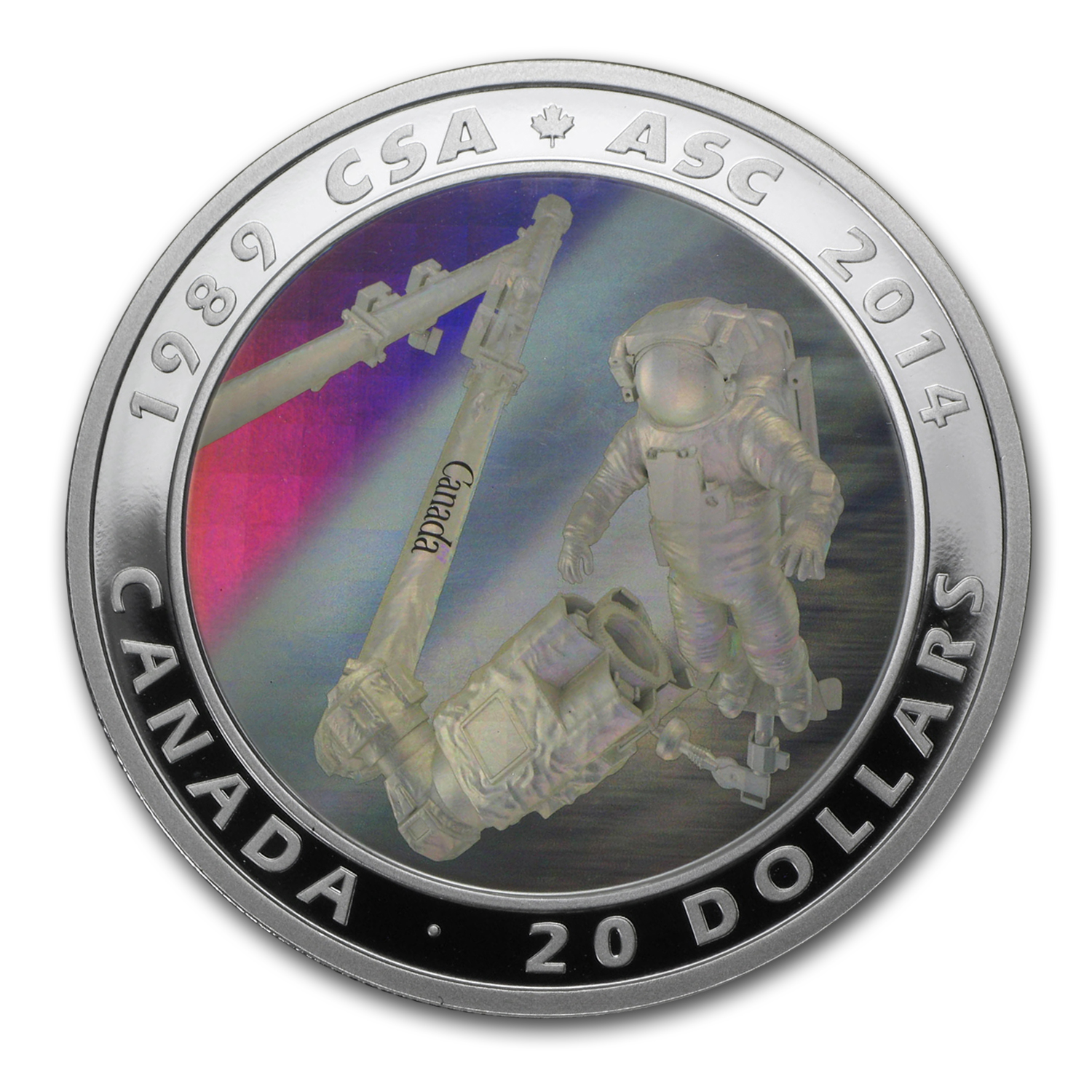 2014 1 oz Silver 25th Anniversary of the Canadian Space Agency