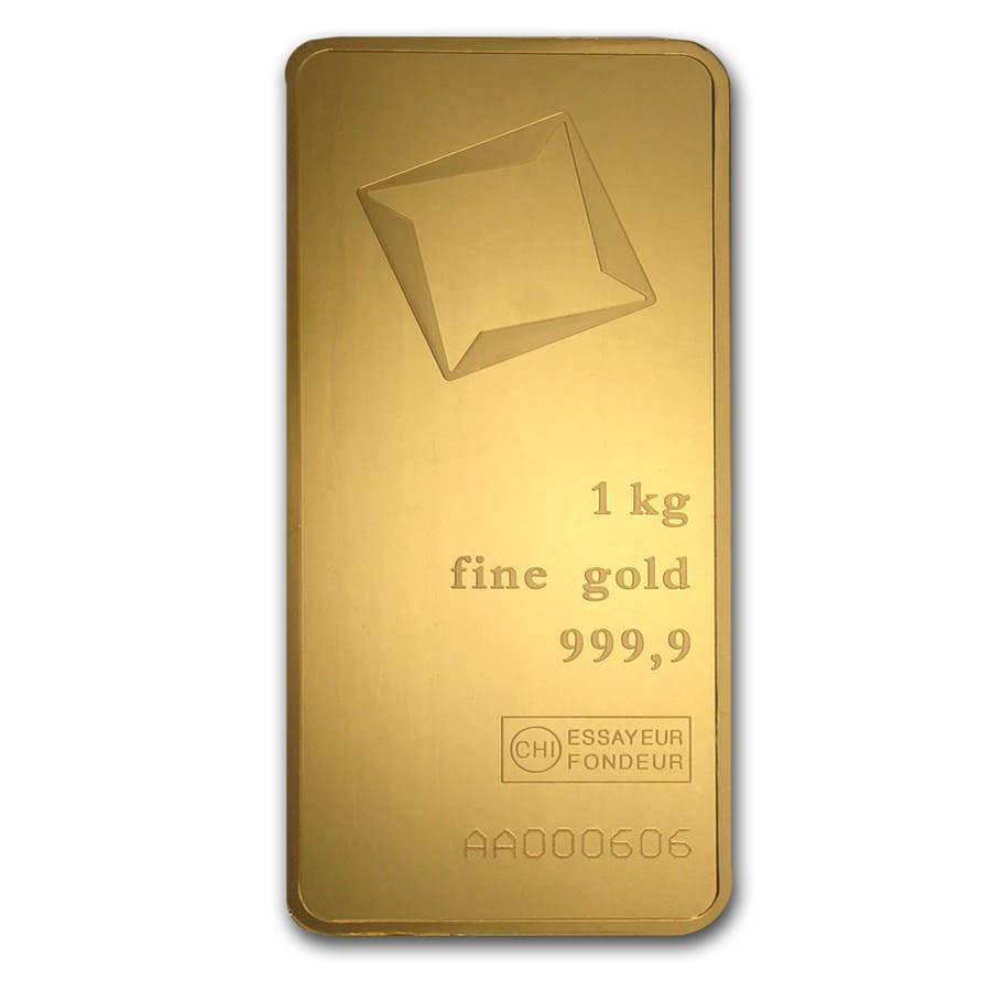 1000 gram Gold Bar - Valcambi (Pressed w/Assay)