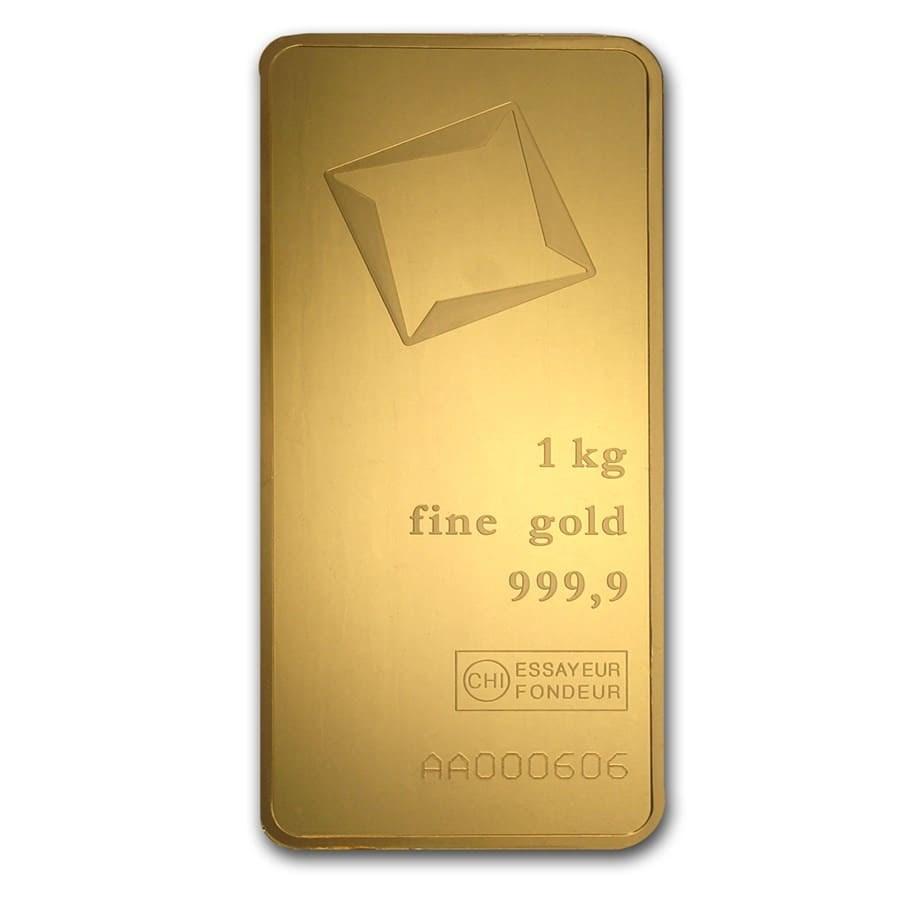 1000 Gram Gold Bar Valcambi Pressed W Assay Valcambi