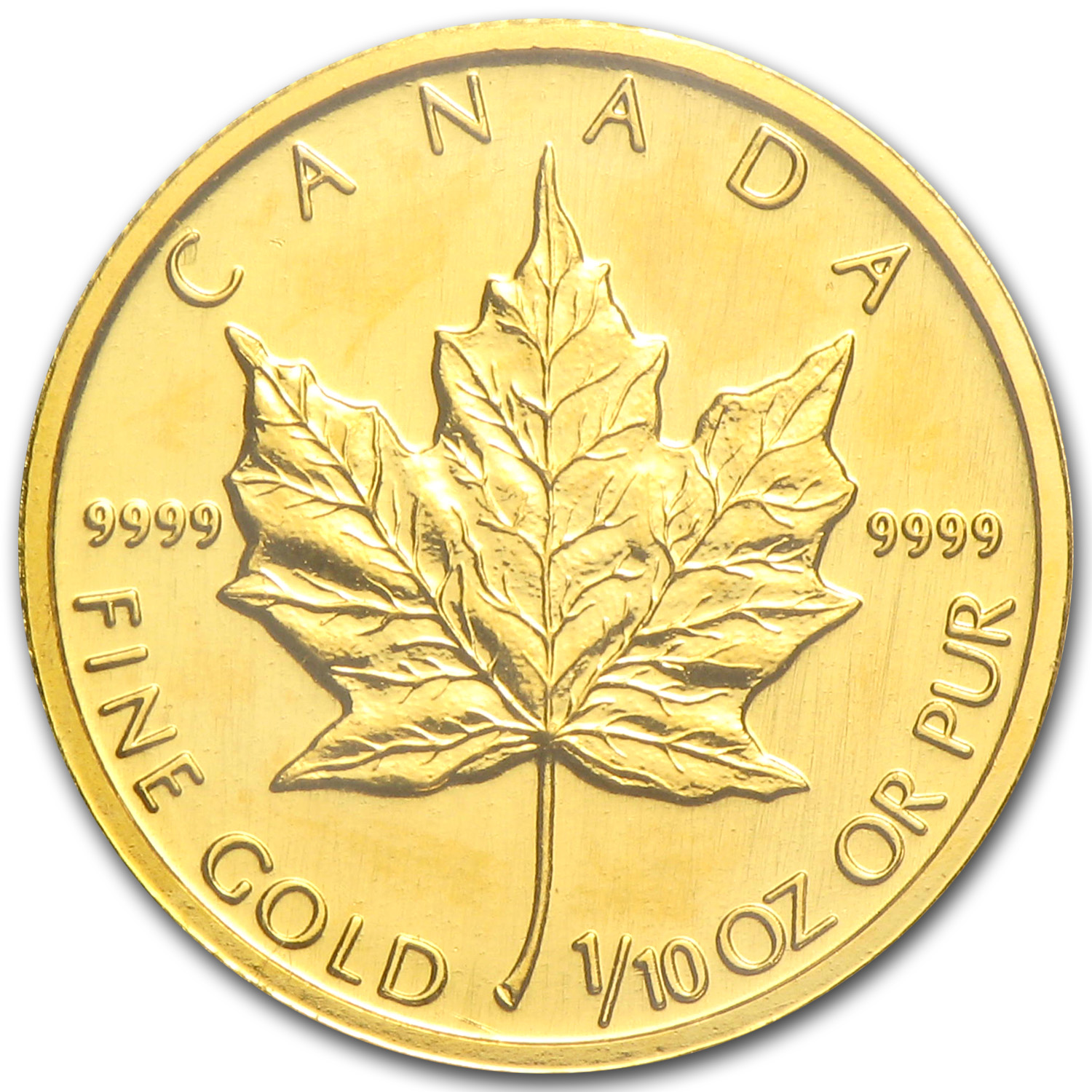 1997 Canada 1/10 oz Gold Maple Leaf BU