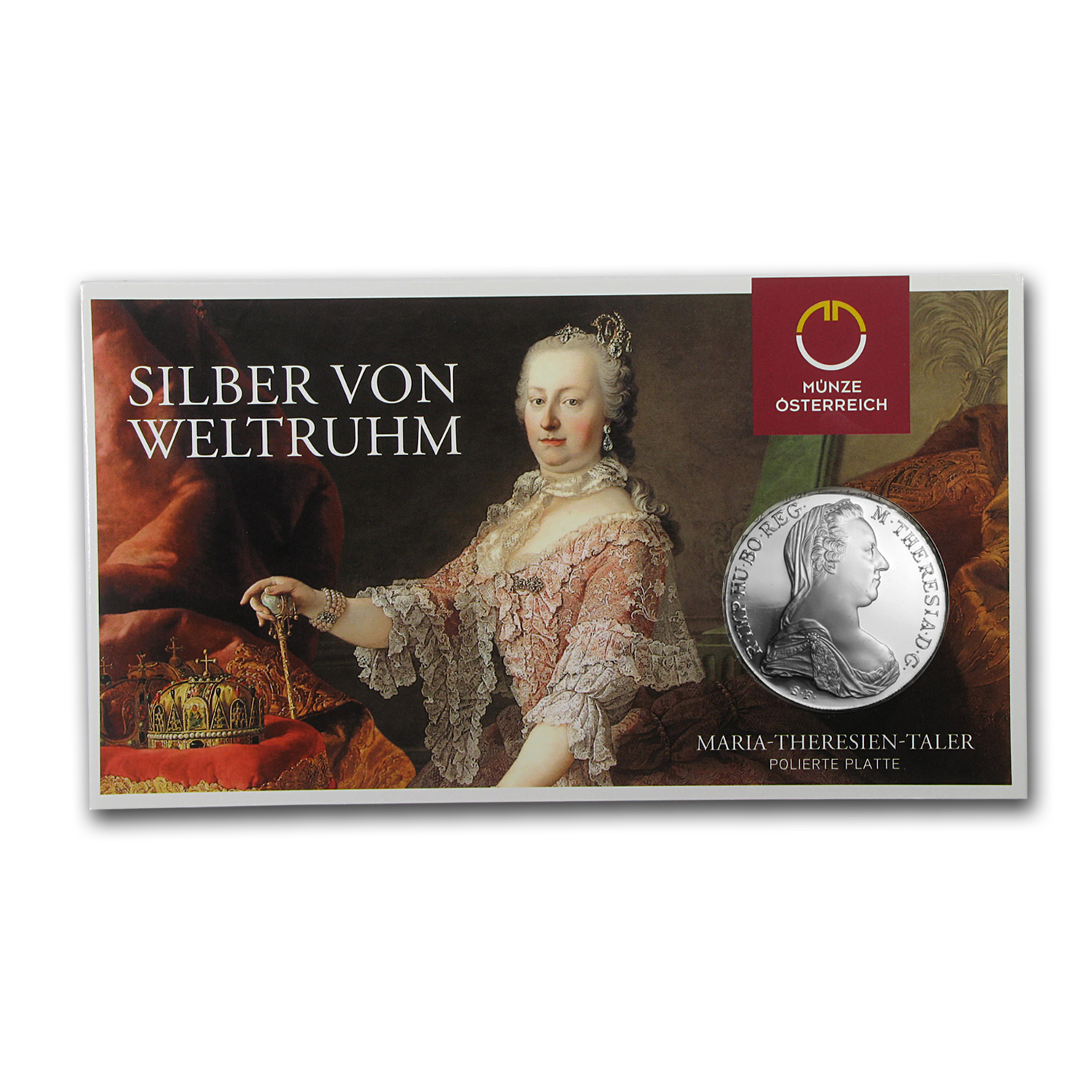 1780 Austria Silver Maria Theresa Thaler Proof (in Card)