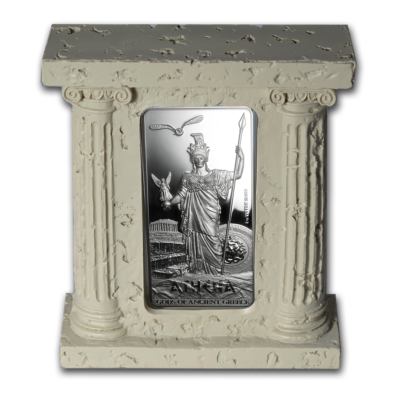 2014 Niue 2 oz Silver $5 Gods of Ancient Greece Proof (Athena)