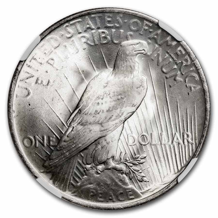 1922 Peace Silver Dollar MS-66 NGC