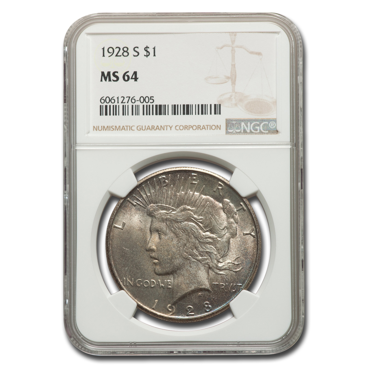 1928-S Peace Dollar MS-64 NGC