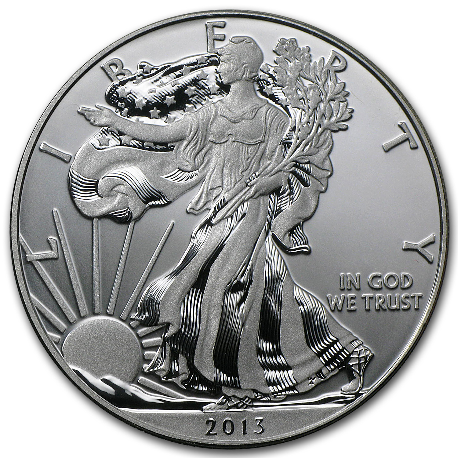 2013-W 1 oz Enhanced Finish Silver Eagle (Capsule Only)
