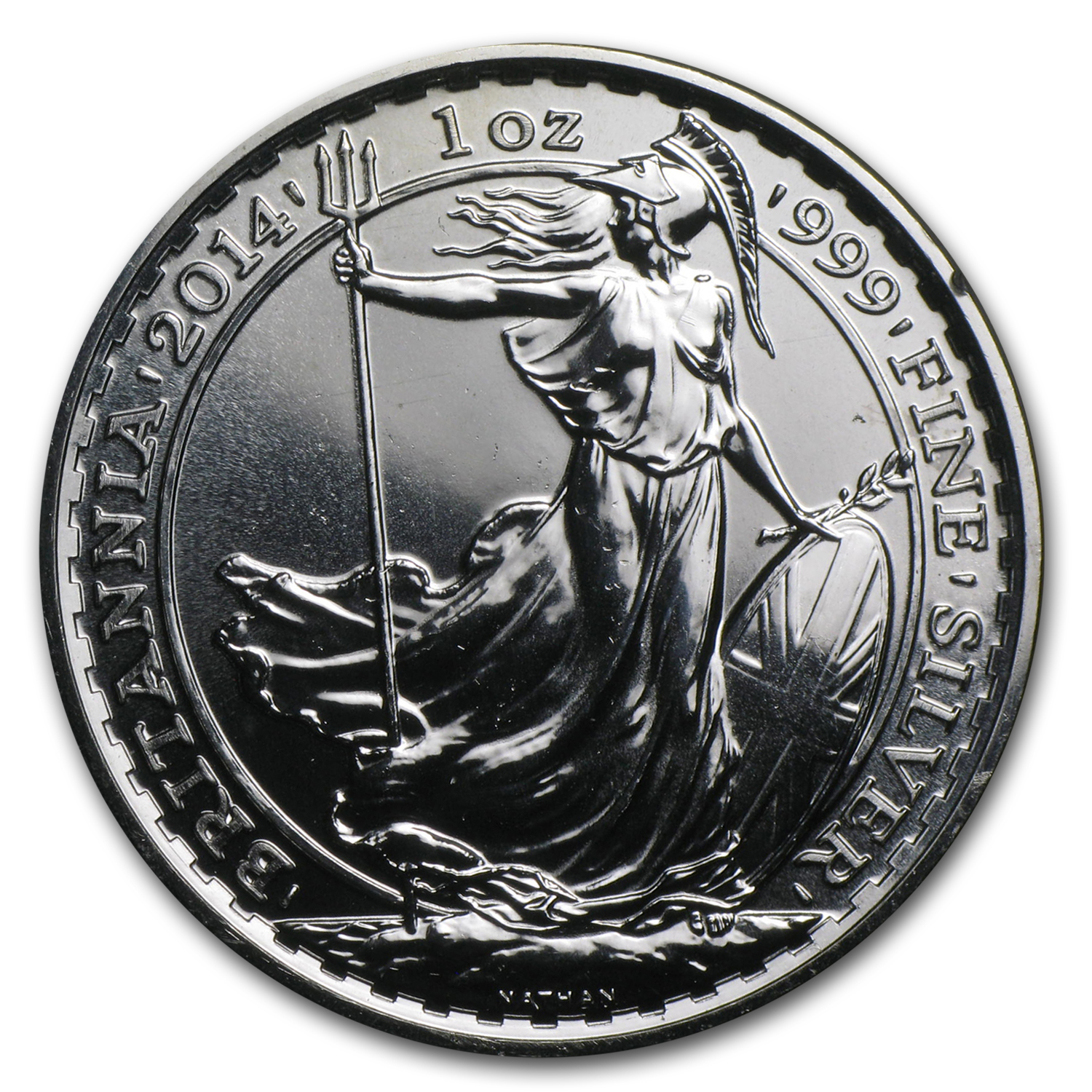 2014 Great Britain 1 oz Silver Britannia (Spotted)