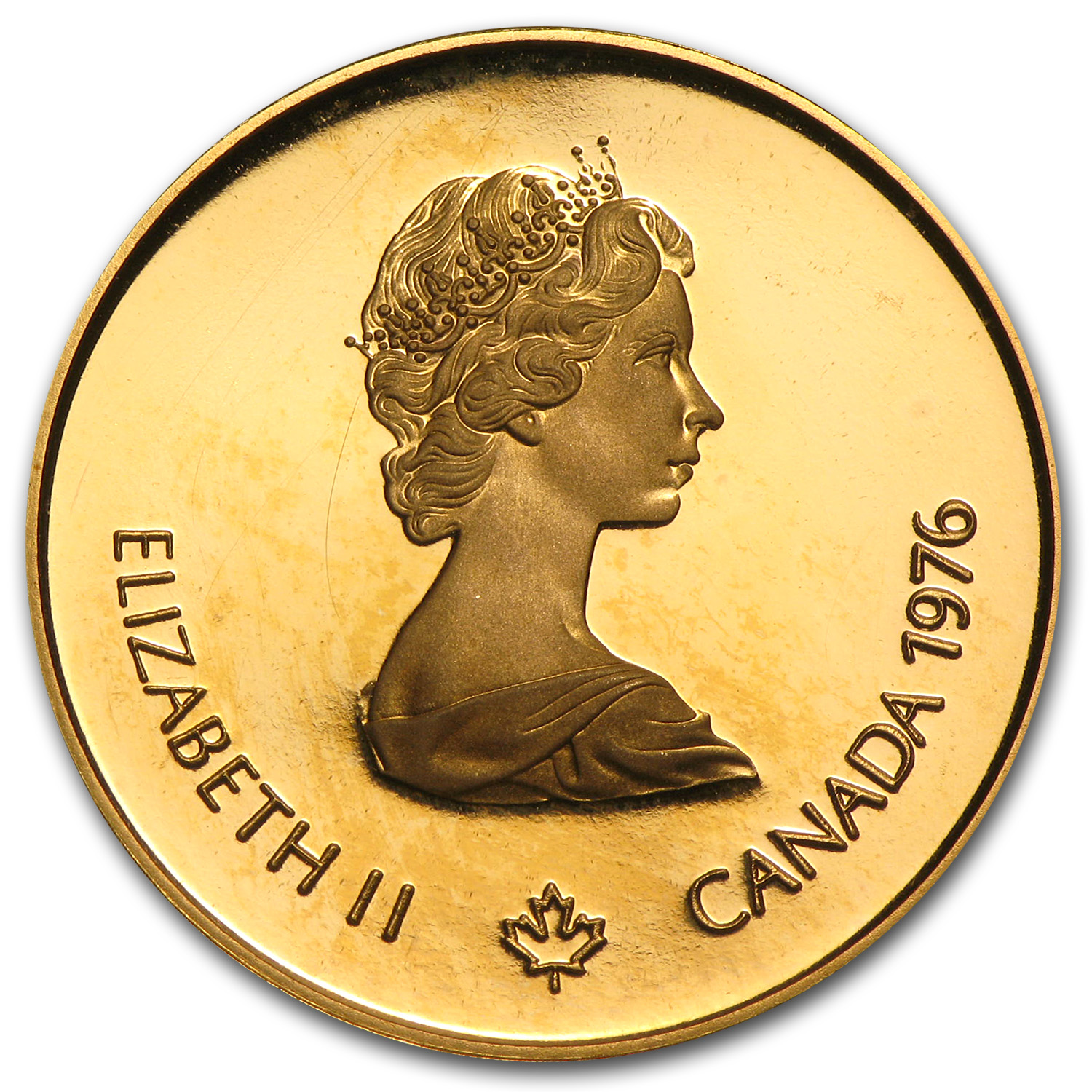 1976 1/2 oz Gold Canadian $100 Proof - Olympic