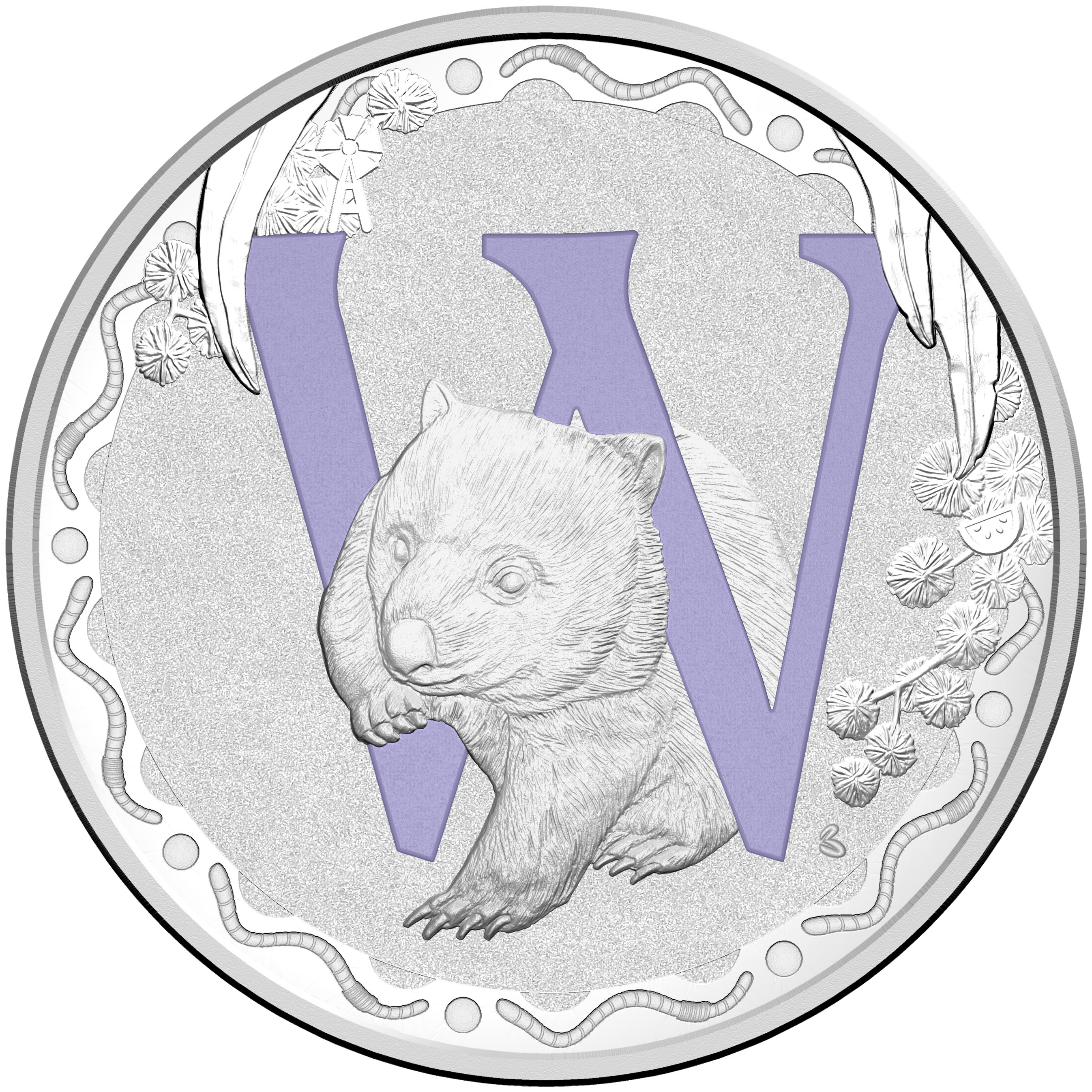 2015 Australia Silver $1 Alphabet Collection Letter-W