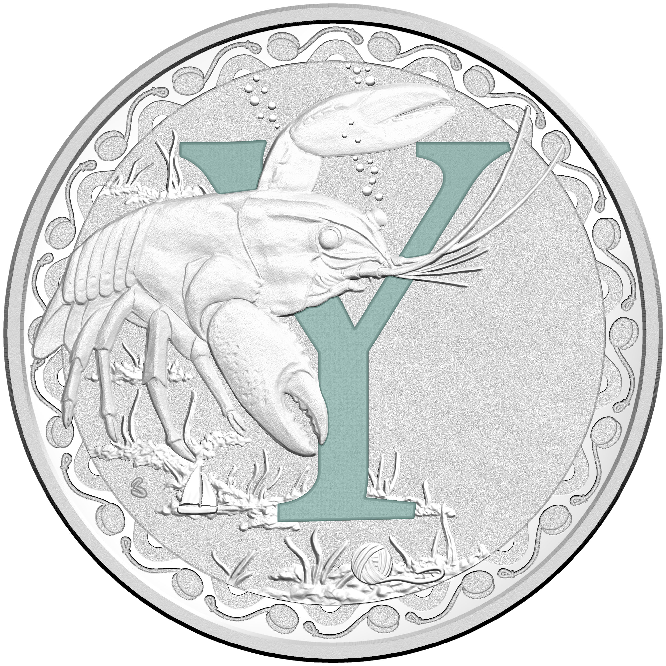 2015 Australia Silver $1 Alphabet Collection Letter-Y