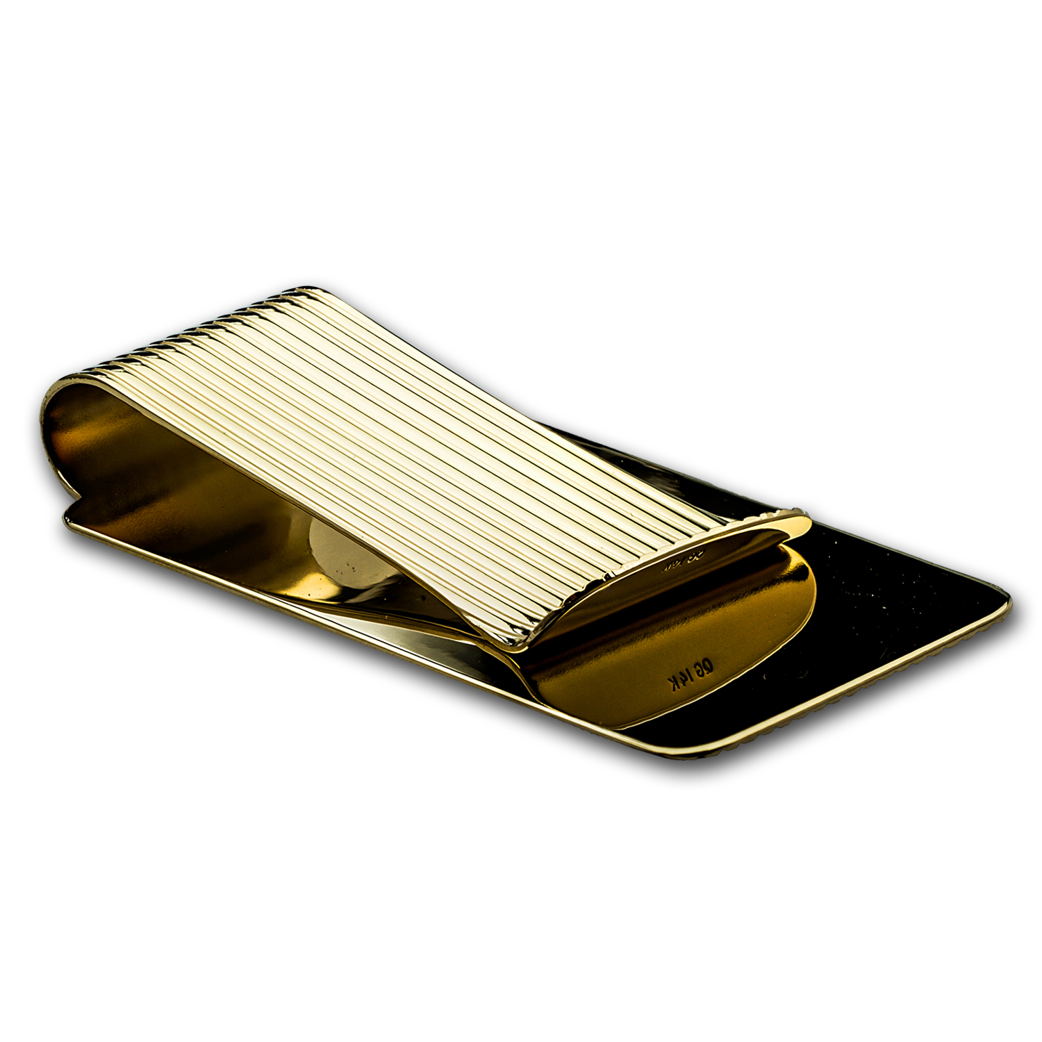 14K Gold Money Clip (Textured)