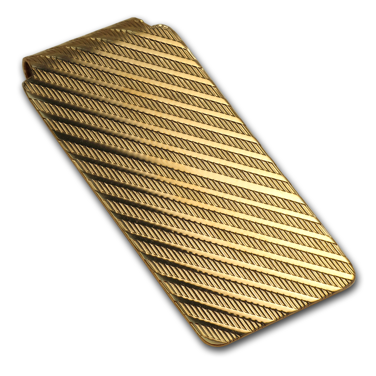 14K Gold Textured Money Clip
