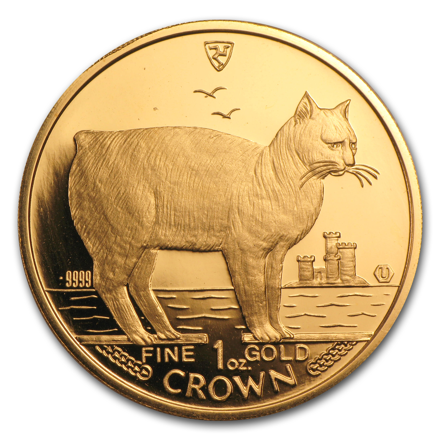 1988 Isle of Man 1 oz Gold Manx Cat BU