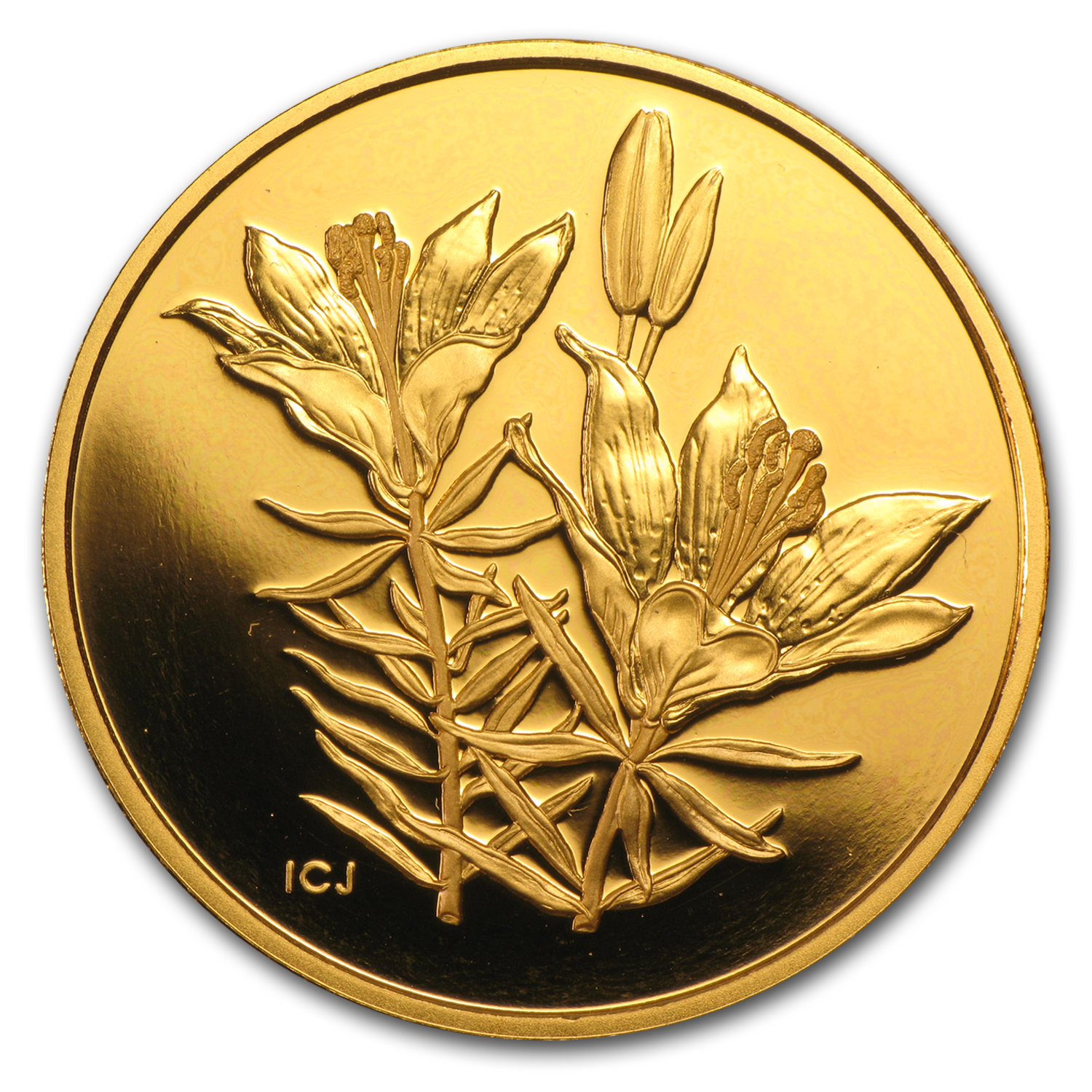 2005 Canada Proof Gold $350 Western Red Lily