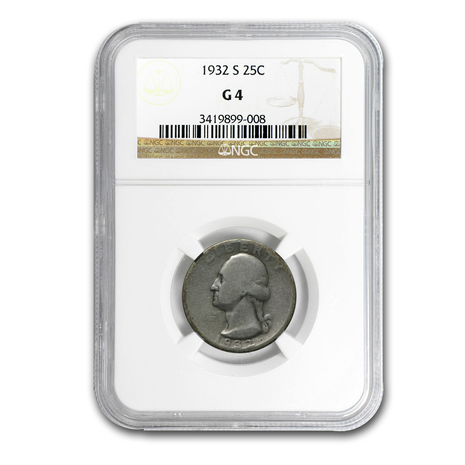 1932-S Washington Quarter Good-4 NGC