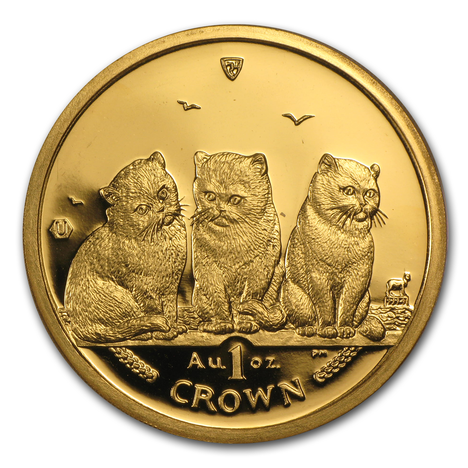 2006 Isle of Man 1 oz Gold Exotic Shorthair Kittens Cat BU