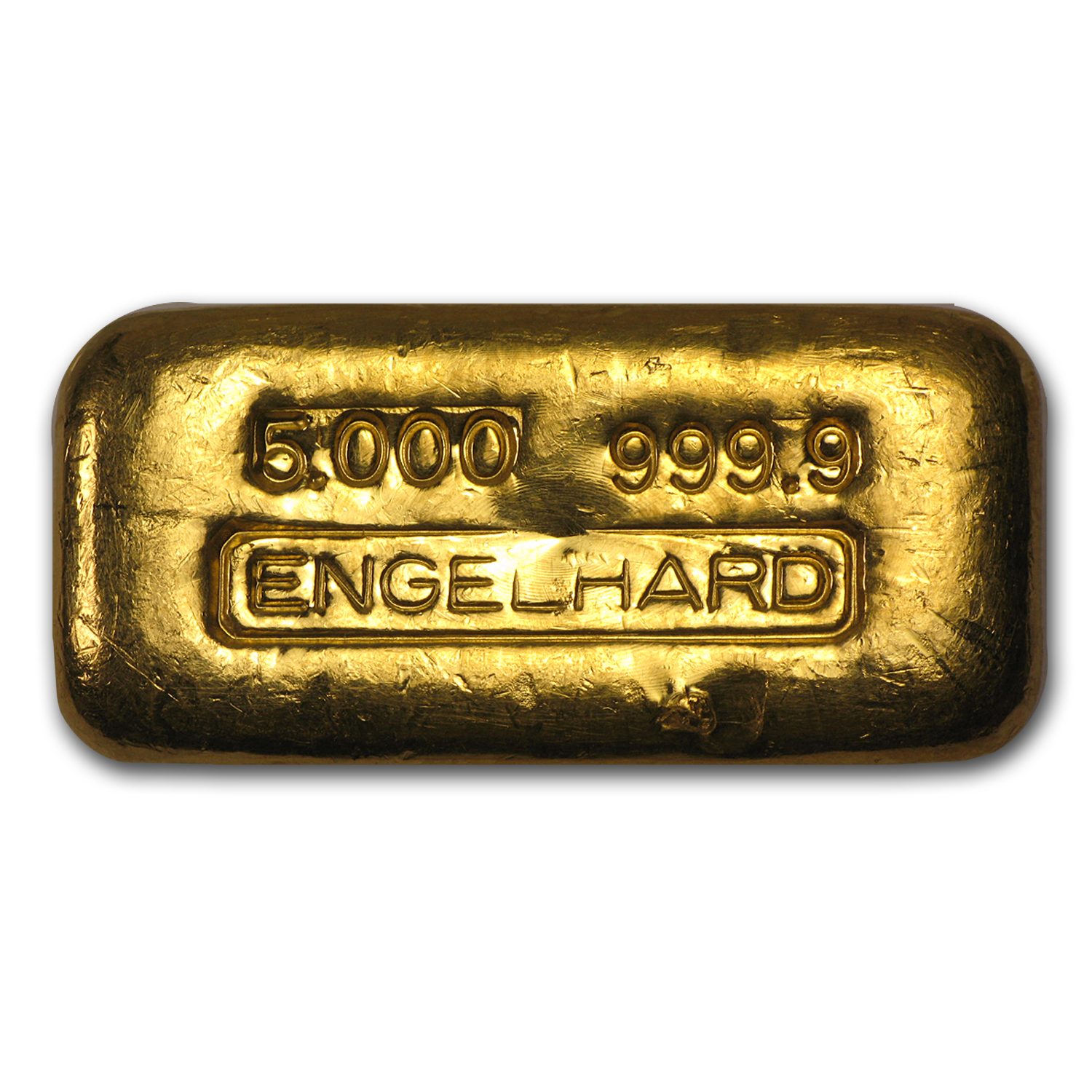5 oz Gold Bar - Engelhard (Poured, Loaf-Style)