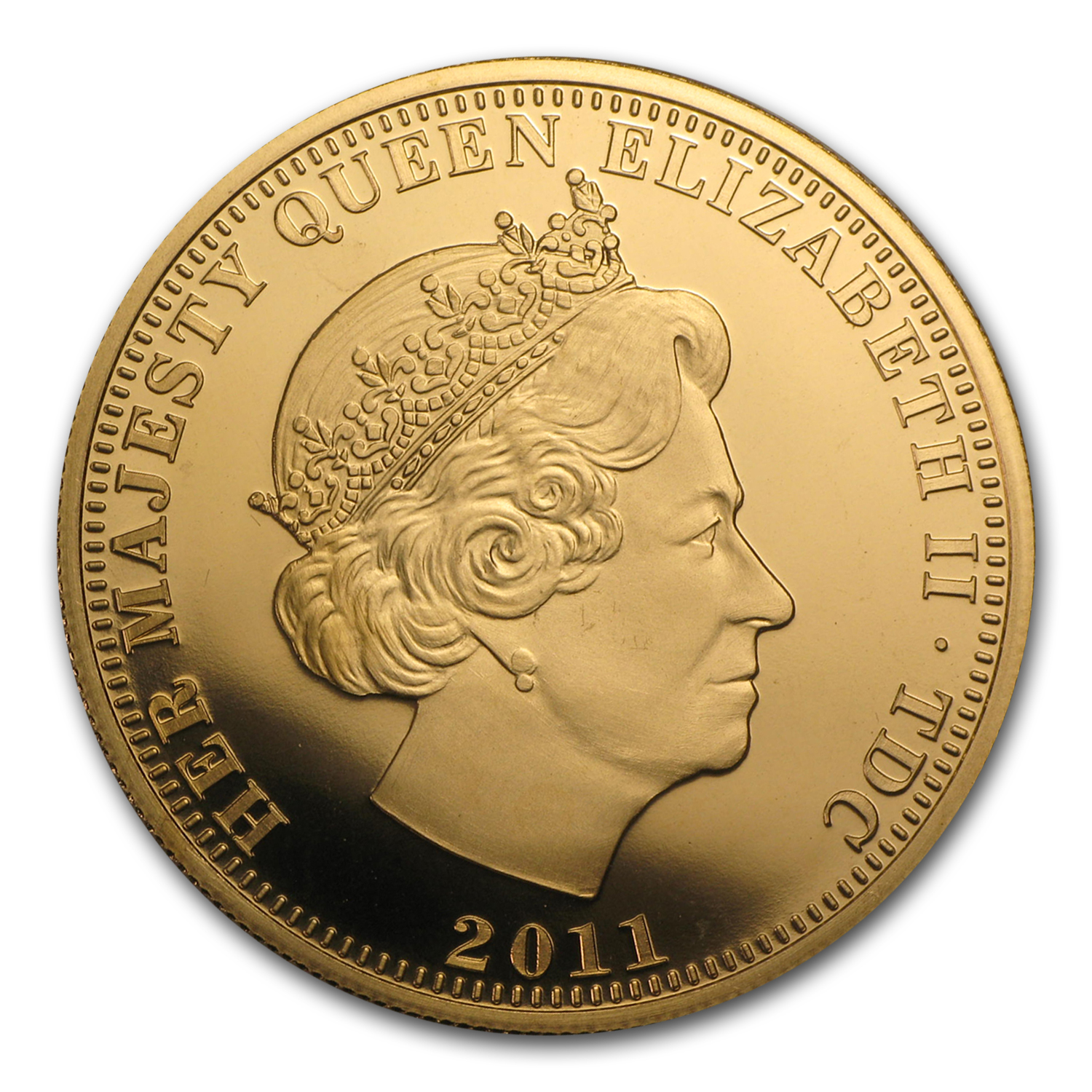 2011 Tristan Da Cunha Gold Double Sovereign William & Catherine