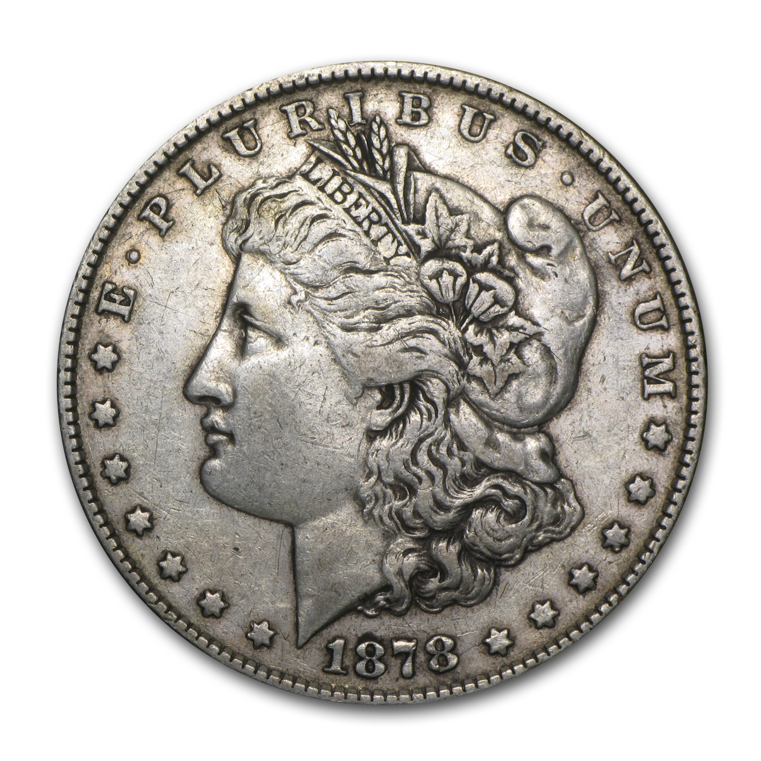 1878 Morgan Dollar 8 TF Extra Fine (VAM-5, Top-100)