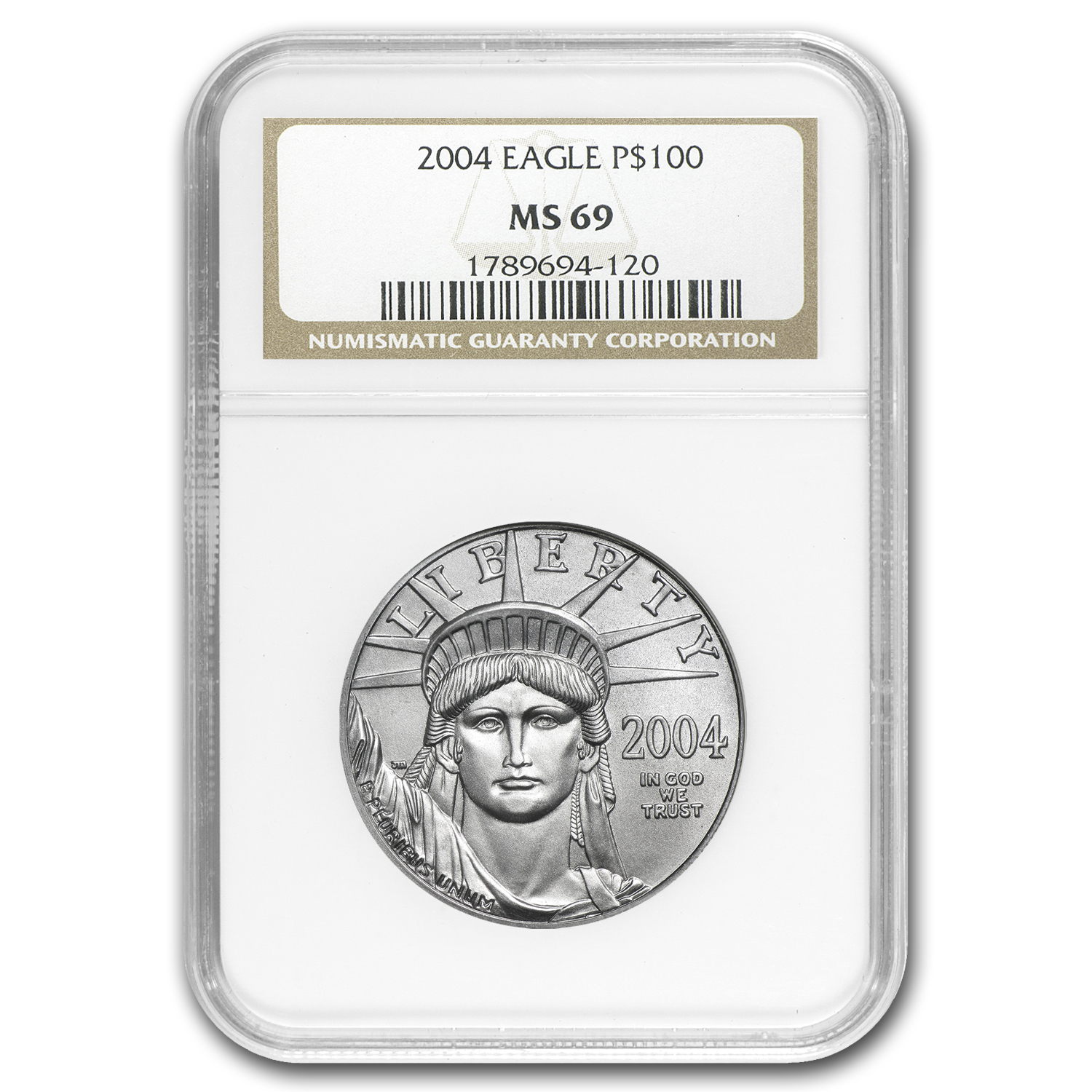 2004 1 oz Platinum American Eagle MS-69 NGC