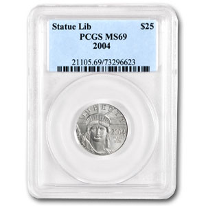 2004 1/4 oz Platinum American Eagle MS-69 PCGS