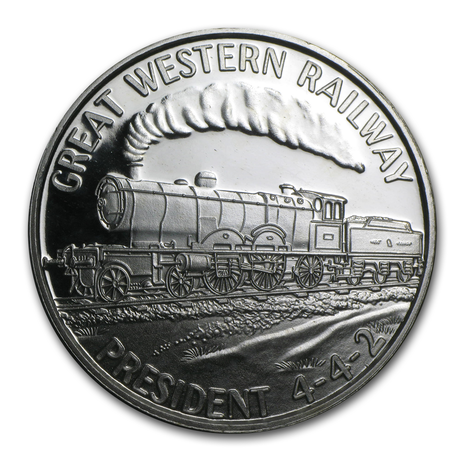 1 oz Silver Round - Train (Great Western Railway President 442)