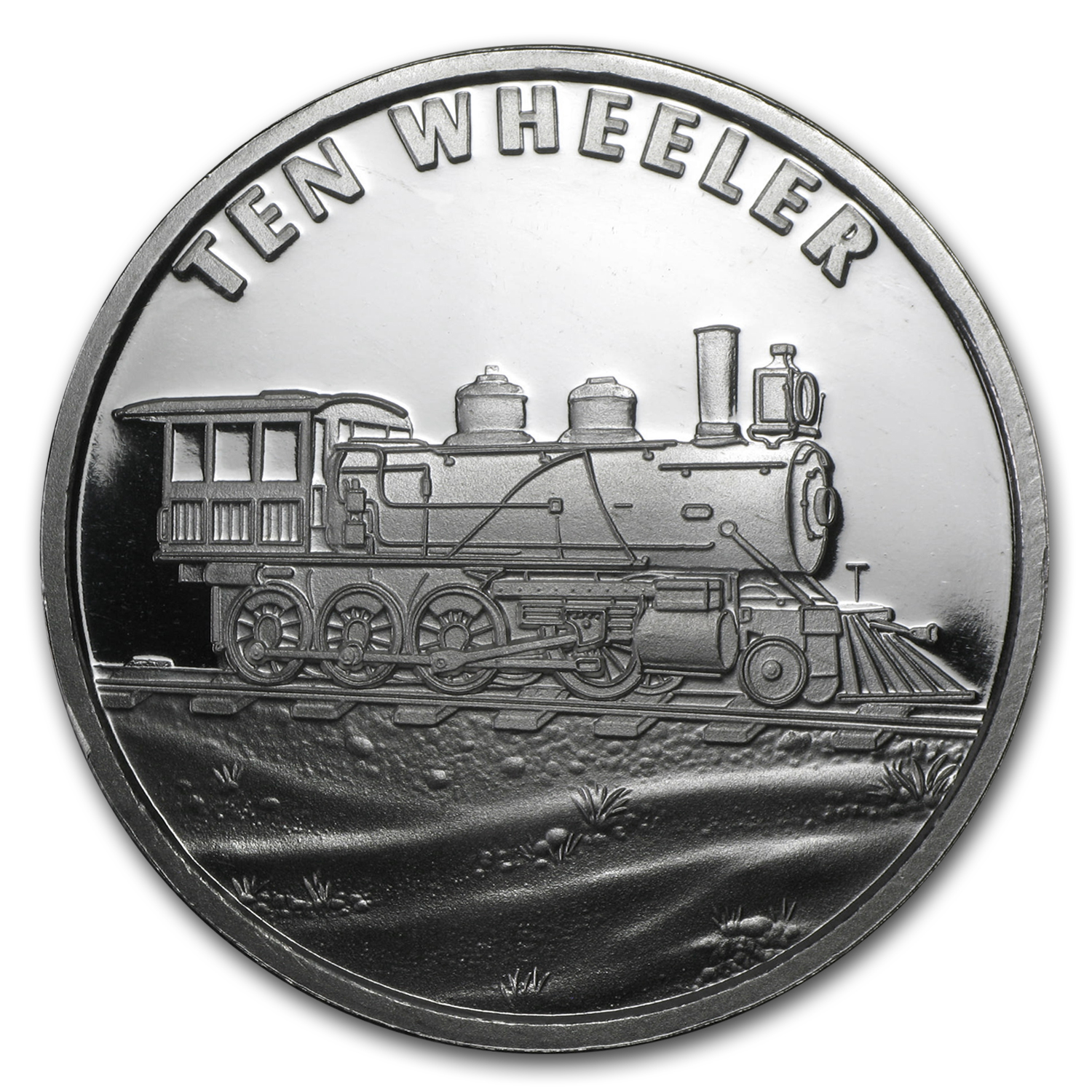 1 oz Silver Round - Train (Ten Wheeler)