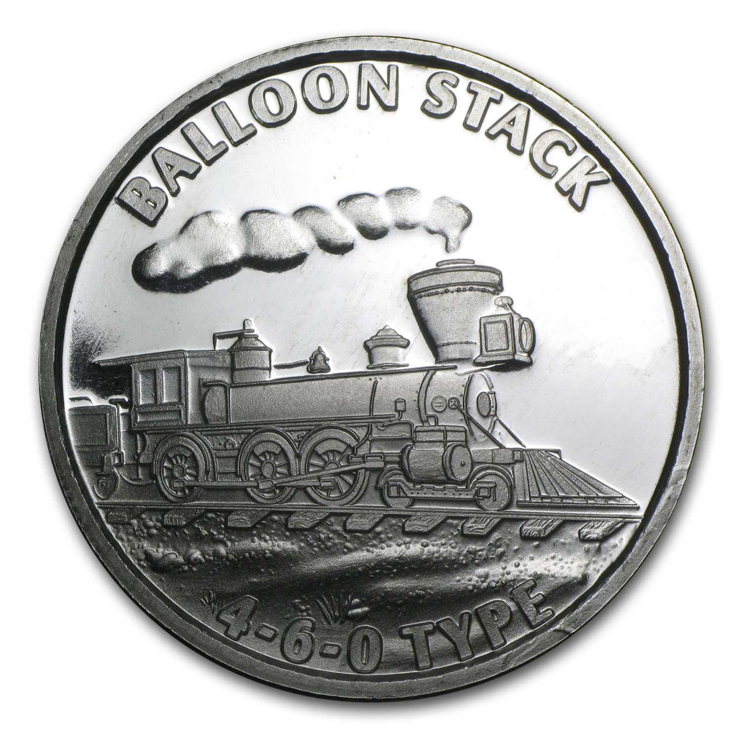 1 oz Silver Round - Train (Balloon Stack 460)