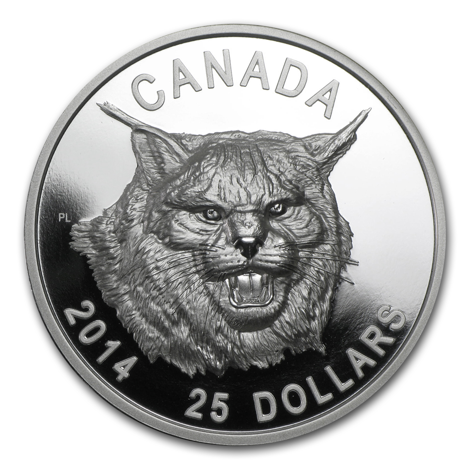 2014 Canada 1 oz Silver $25 The Fierce Canadian Lynx (UHR)