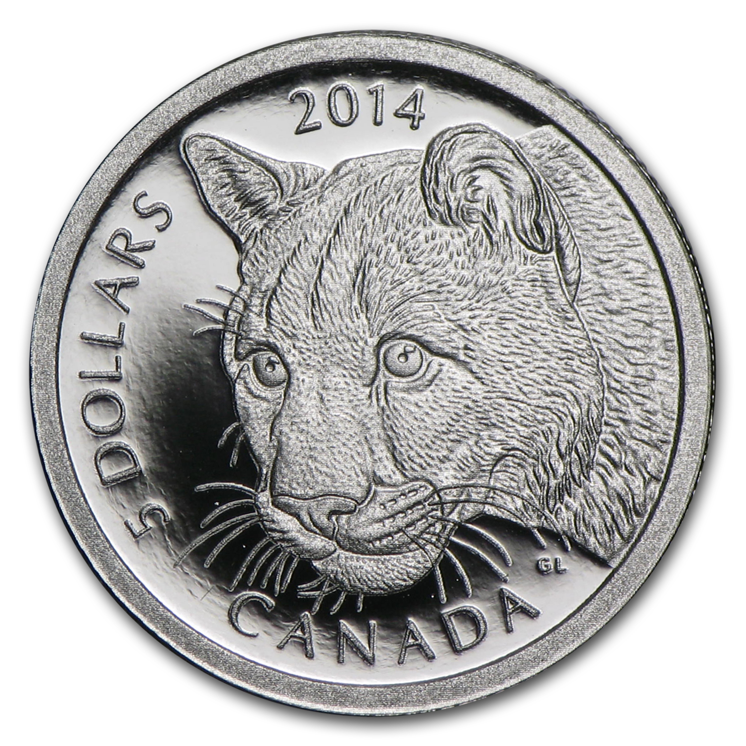 2014 Canada 1/10 oz Proof Platinum $5 Cougar