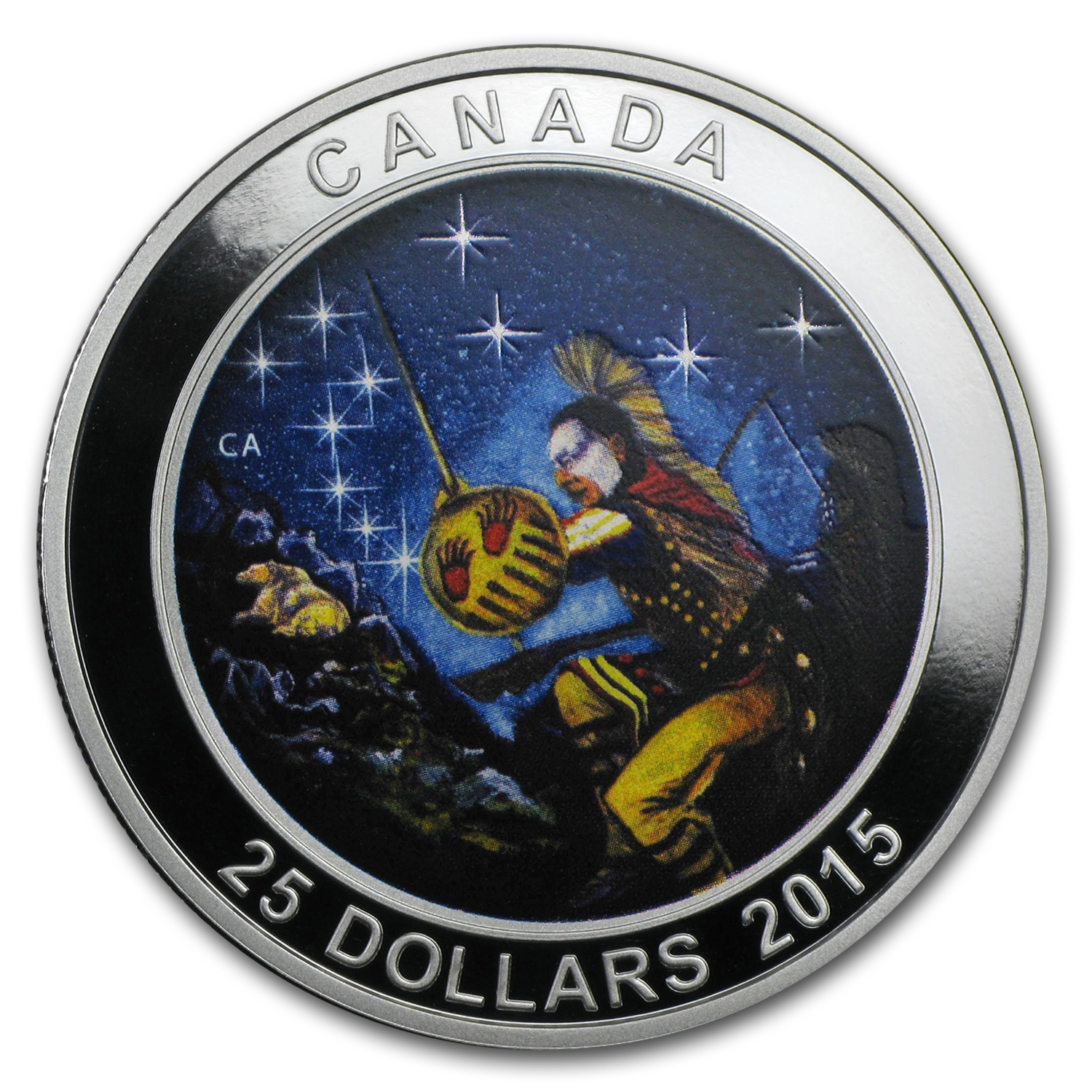 2015 Canada 1 oz Silver $25 Star Charts (The Wounded Bear)
