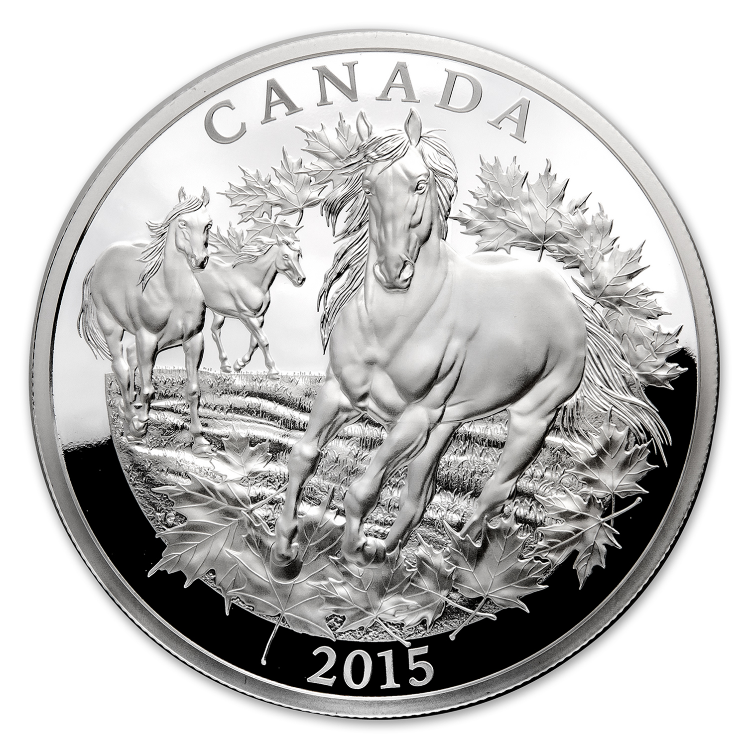 2015 Canada 1/2 kilo Proof Silver $125 Canadian Horse