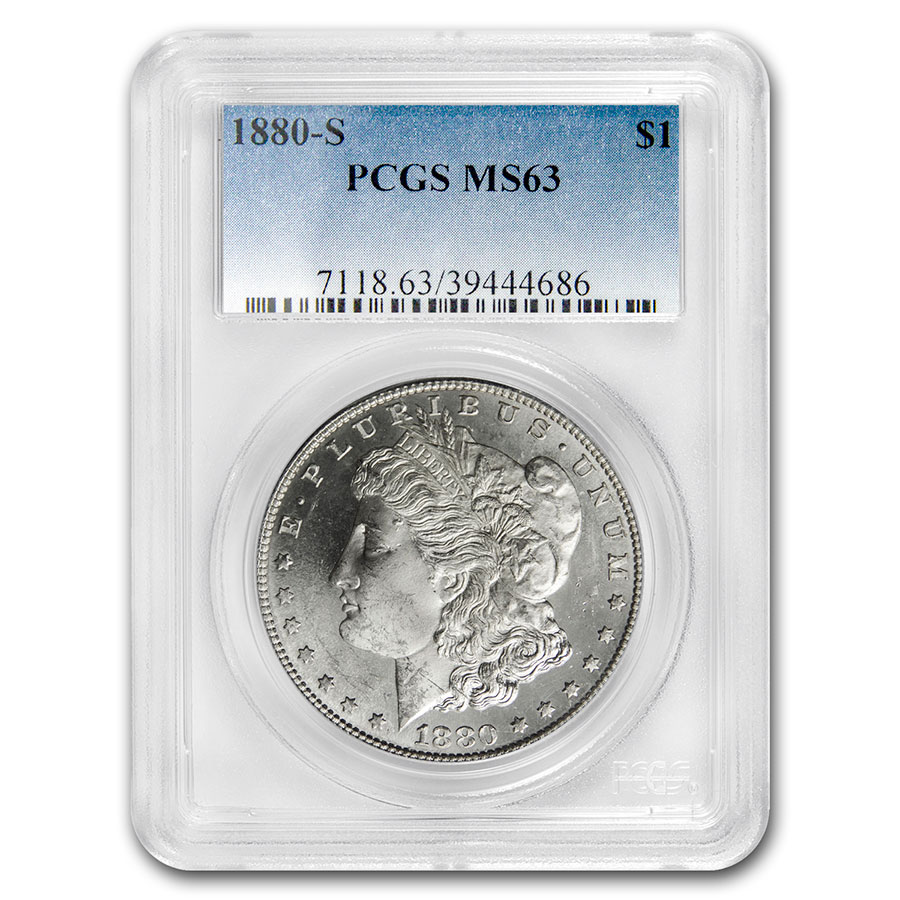 1880-S Morgan Dollar MS-63 PCGS