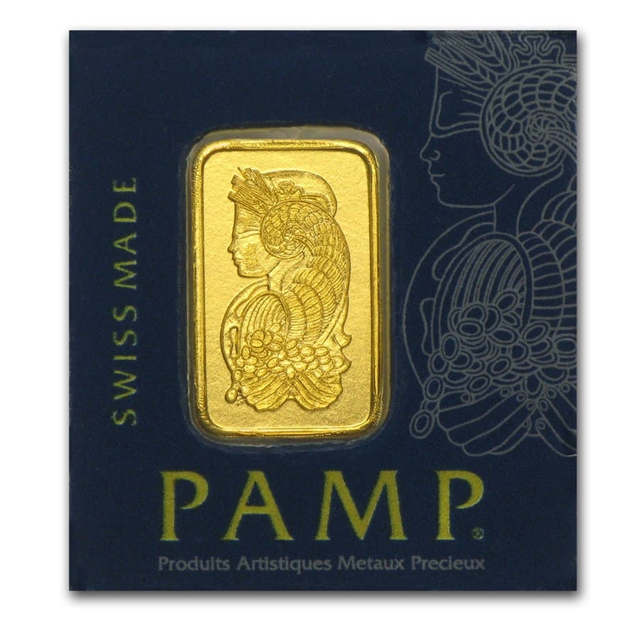 1 gram Gold Bar - PAMP Suisse - Multigram+25 (In Assay)
