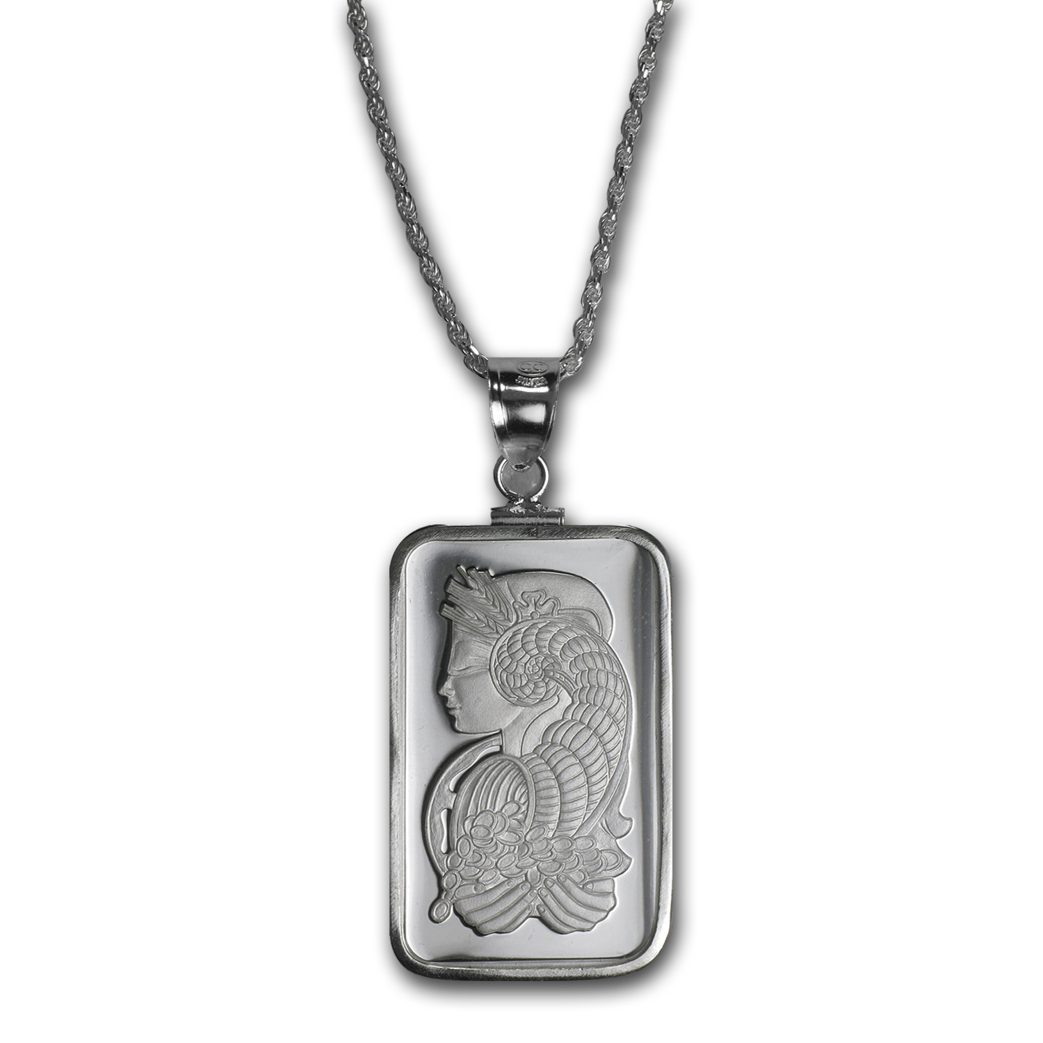 10 gram Silver - PAMP Suisse Fortuna Pendant (w/Chain)