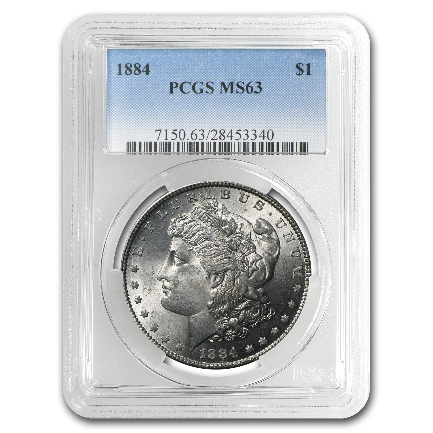 1884 Morgan Dollar MS-63 PCGS