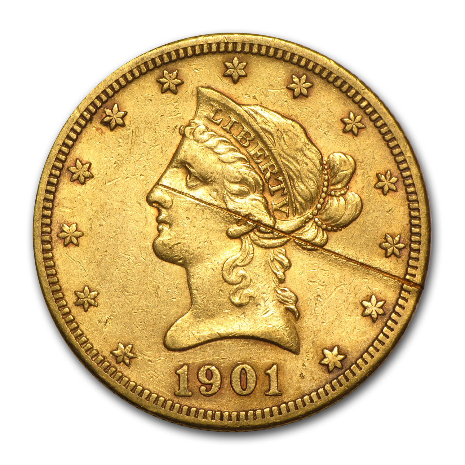 $10 Liberty Gold Eagle (Heavily Damaged)