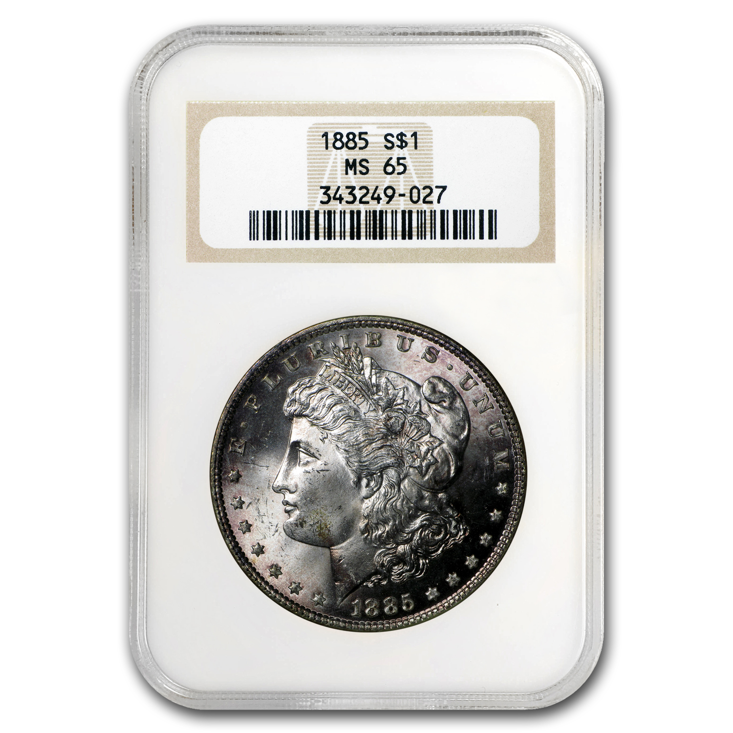 1885 Morgan Dollar MS-65 NGC (Peripheral Toning)