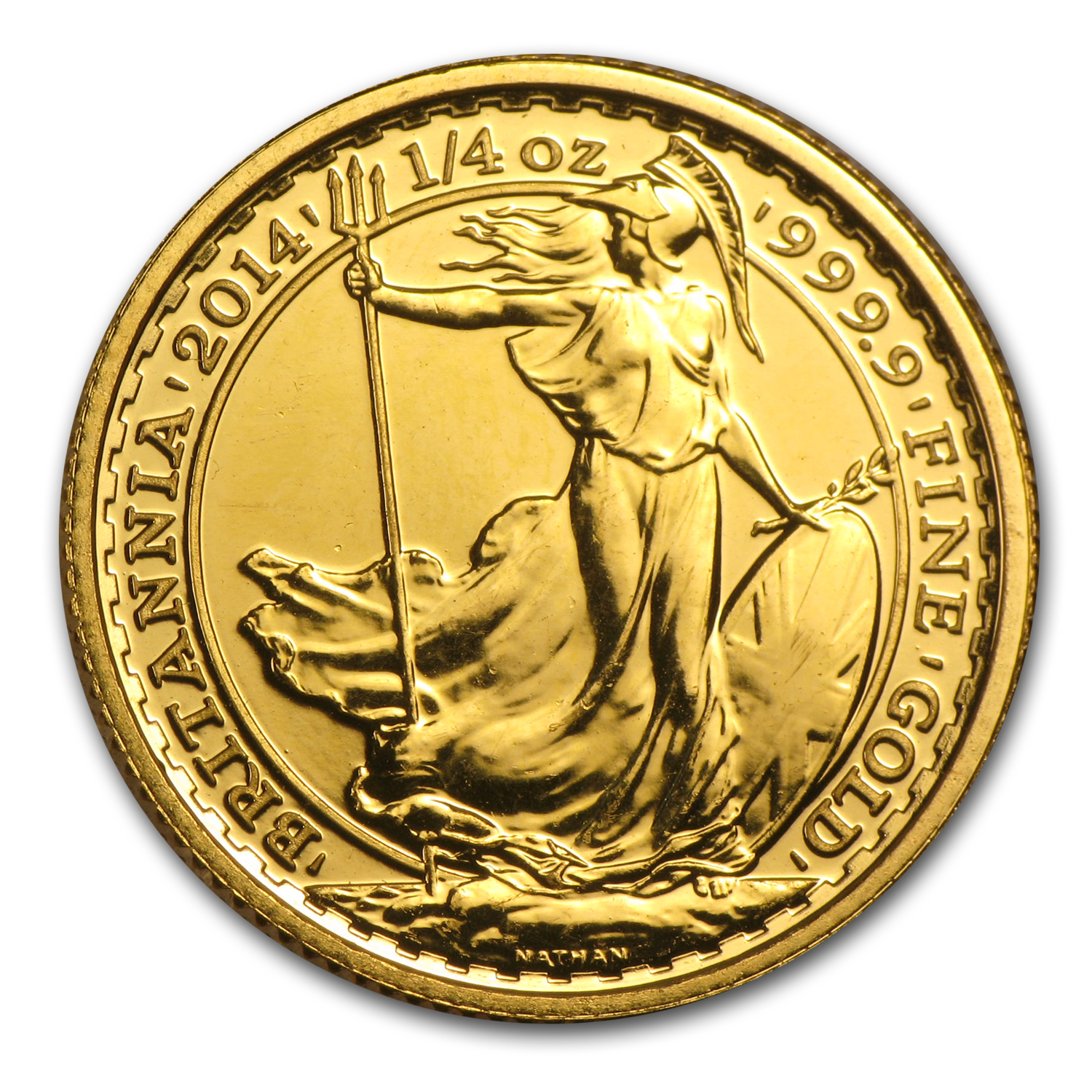 2014 Great Britain 1/4 oz Gold Britannia BU