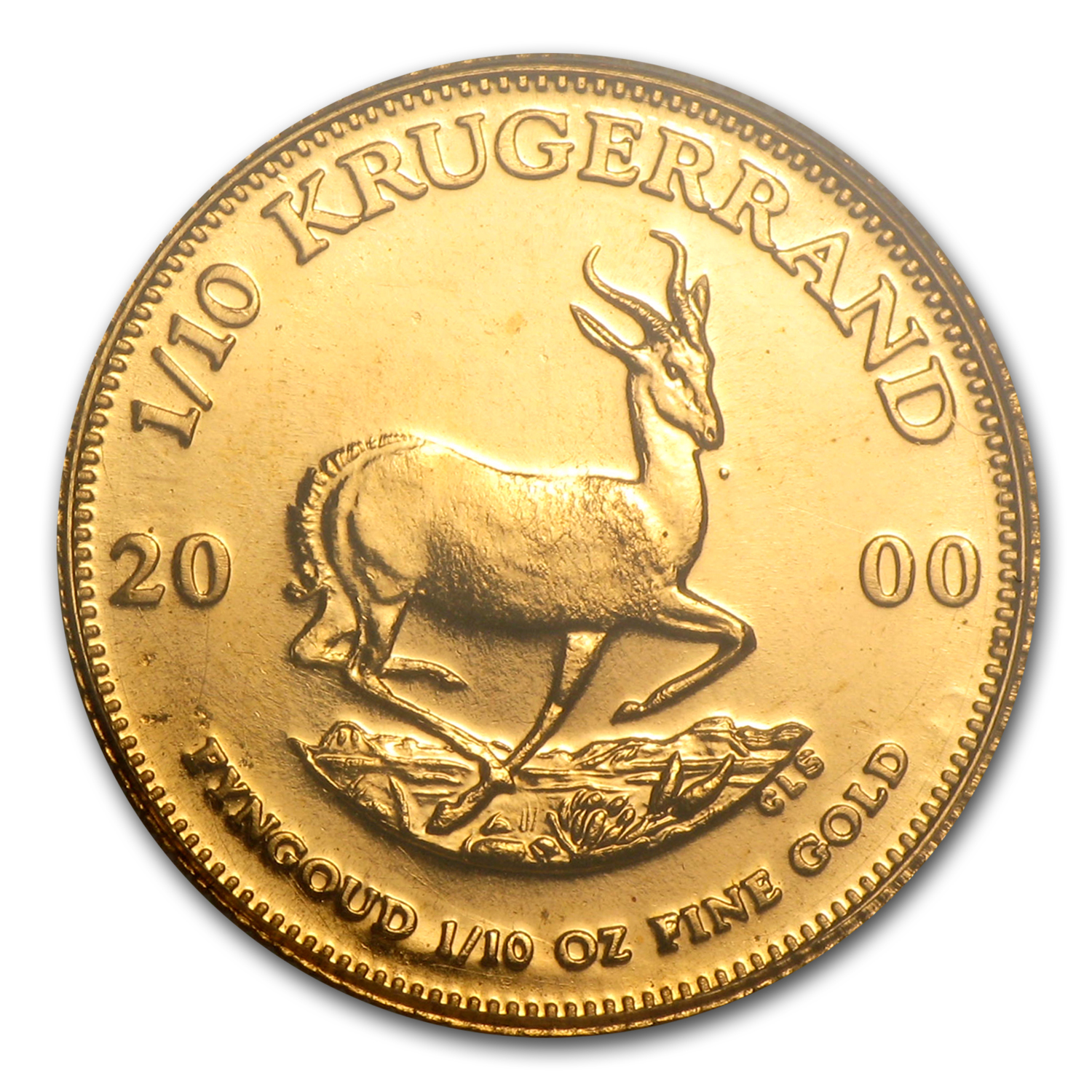 2000 South Africa 1/10 oz Gold Krugerrand Unc PCGS (WTC)
